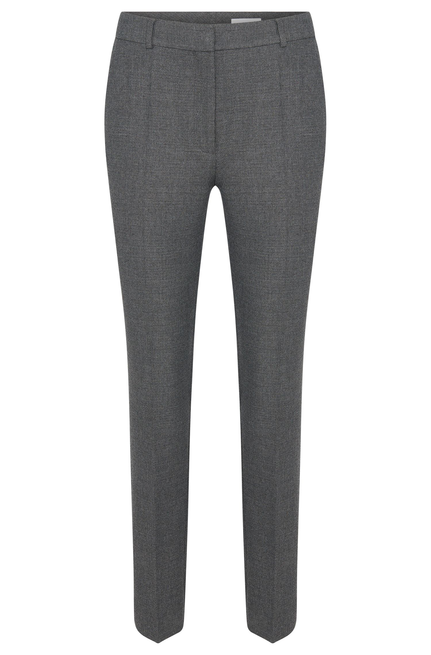 'Acnes' | Stretch Virgin Wool Blend Melange Trousers