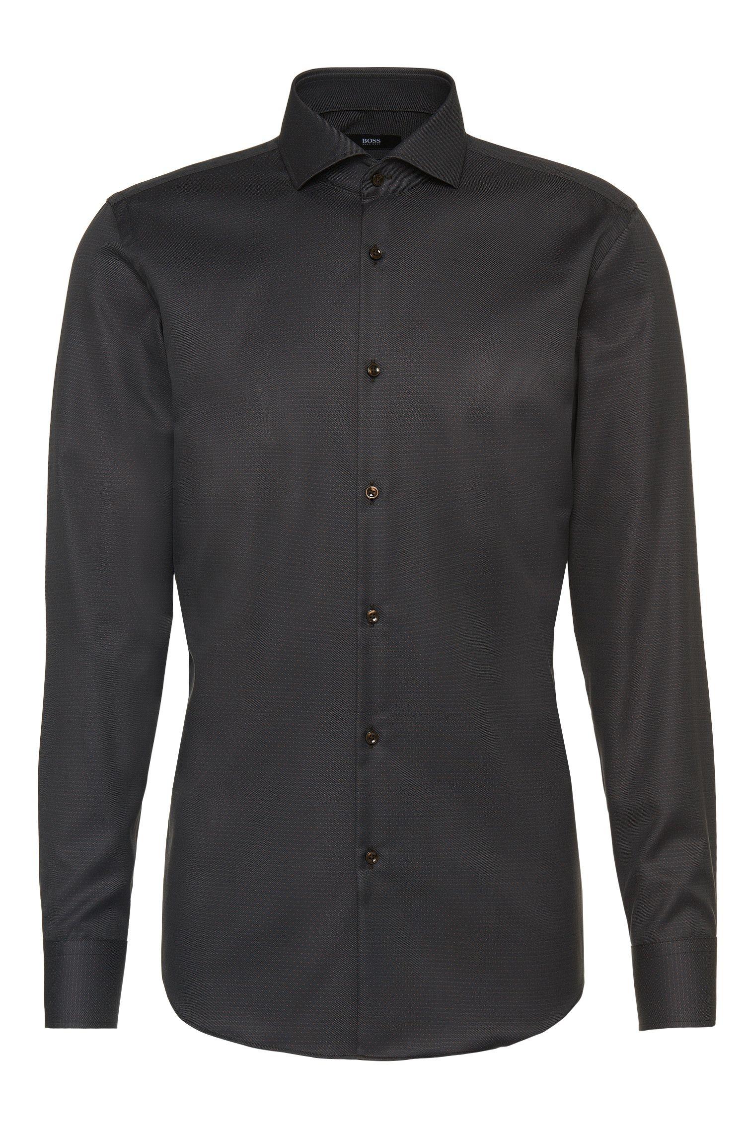 'Jason'   Slim Fit, Cotton Patterned Dress Shirt