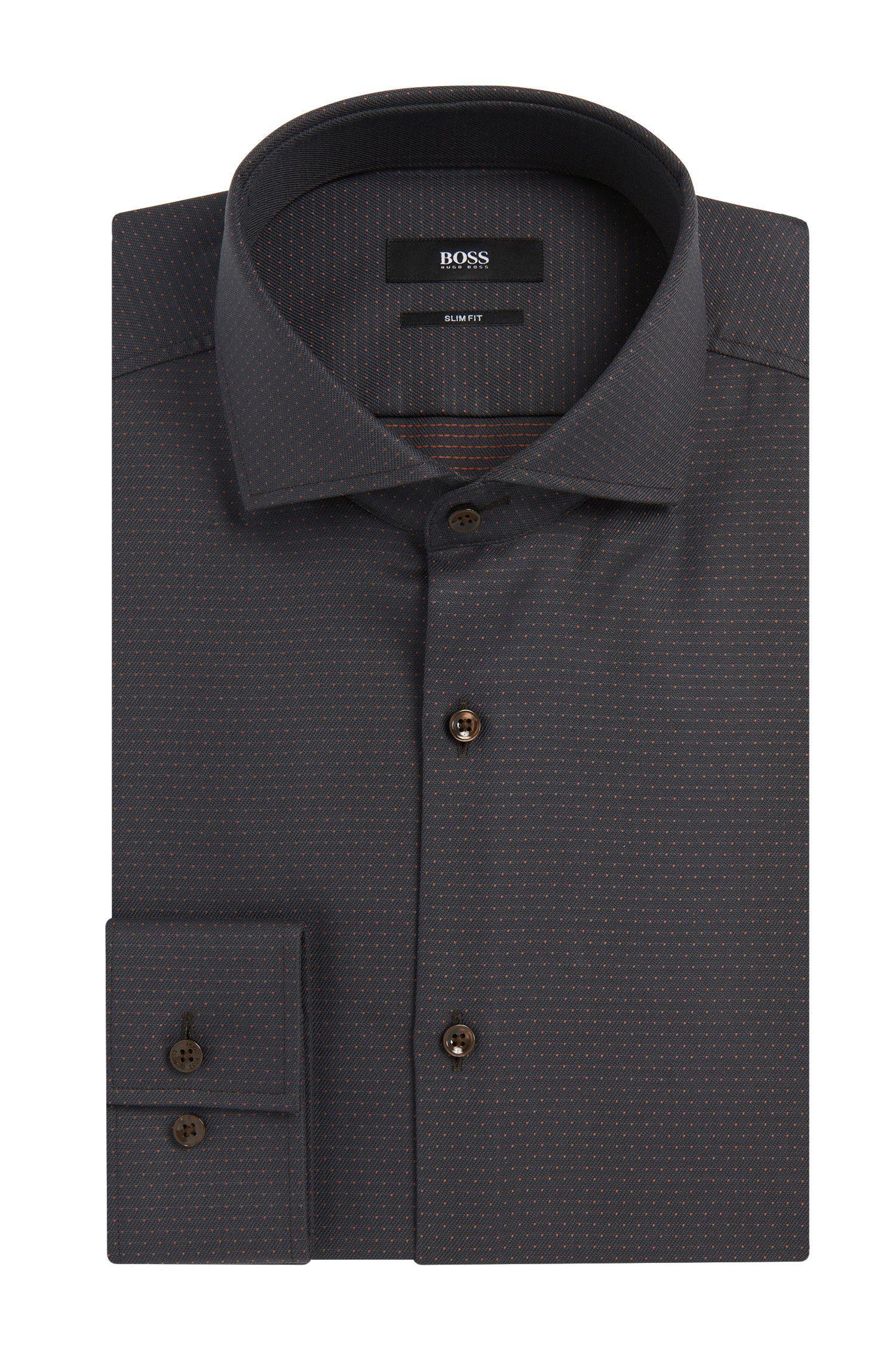 'Jason' | Slim Fit, Cotton Patterned Dress Shirt