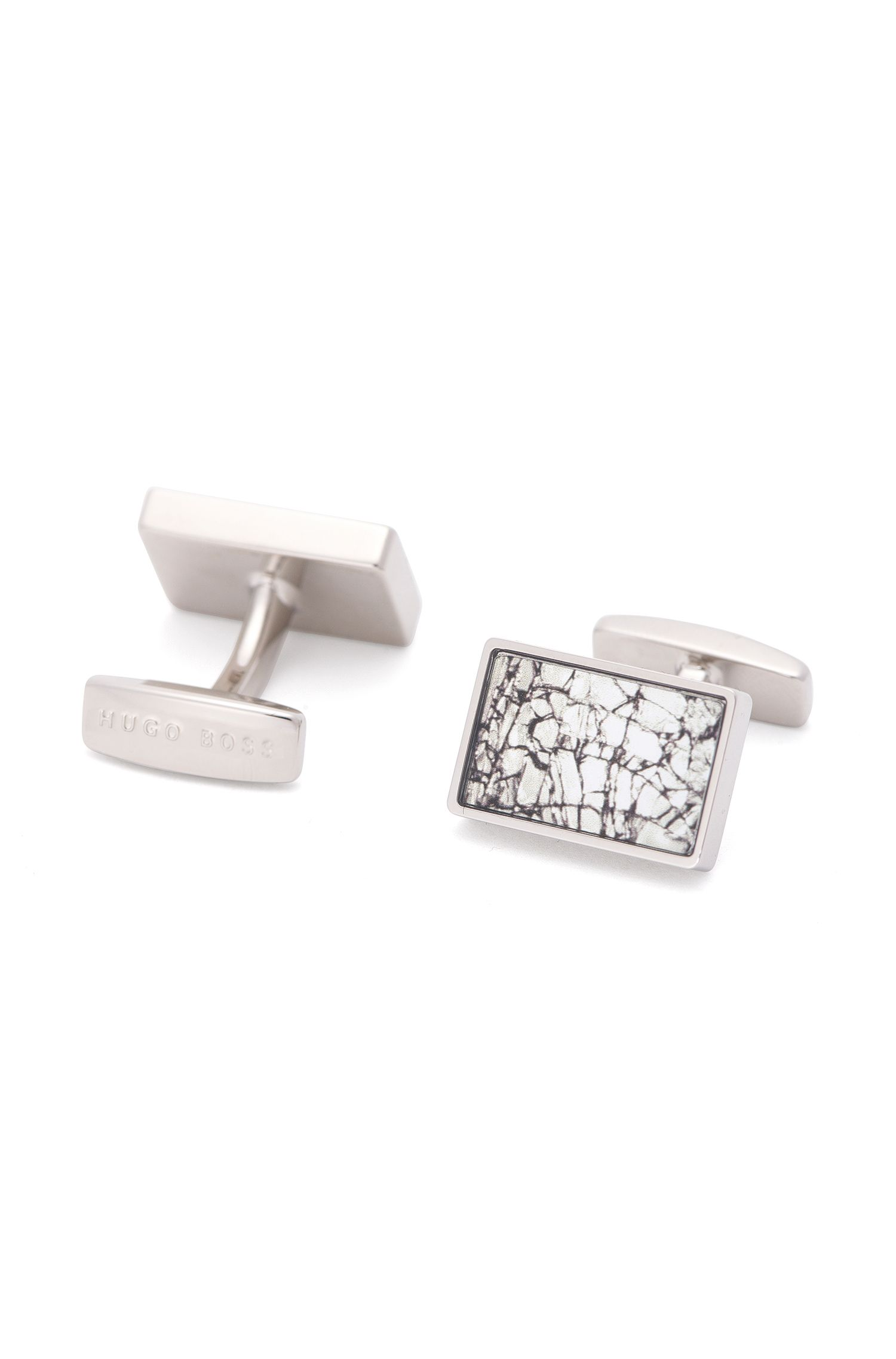 'Ross' | Brass Abstract Cufflinks