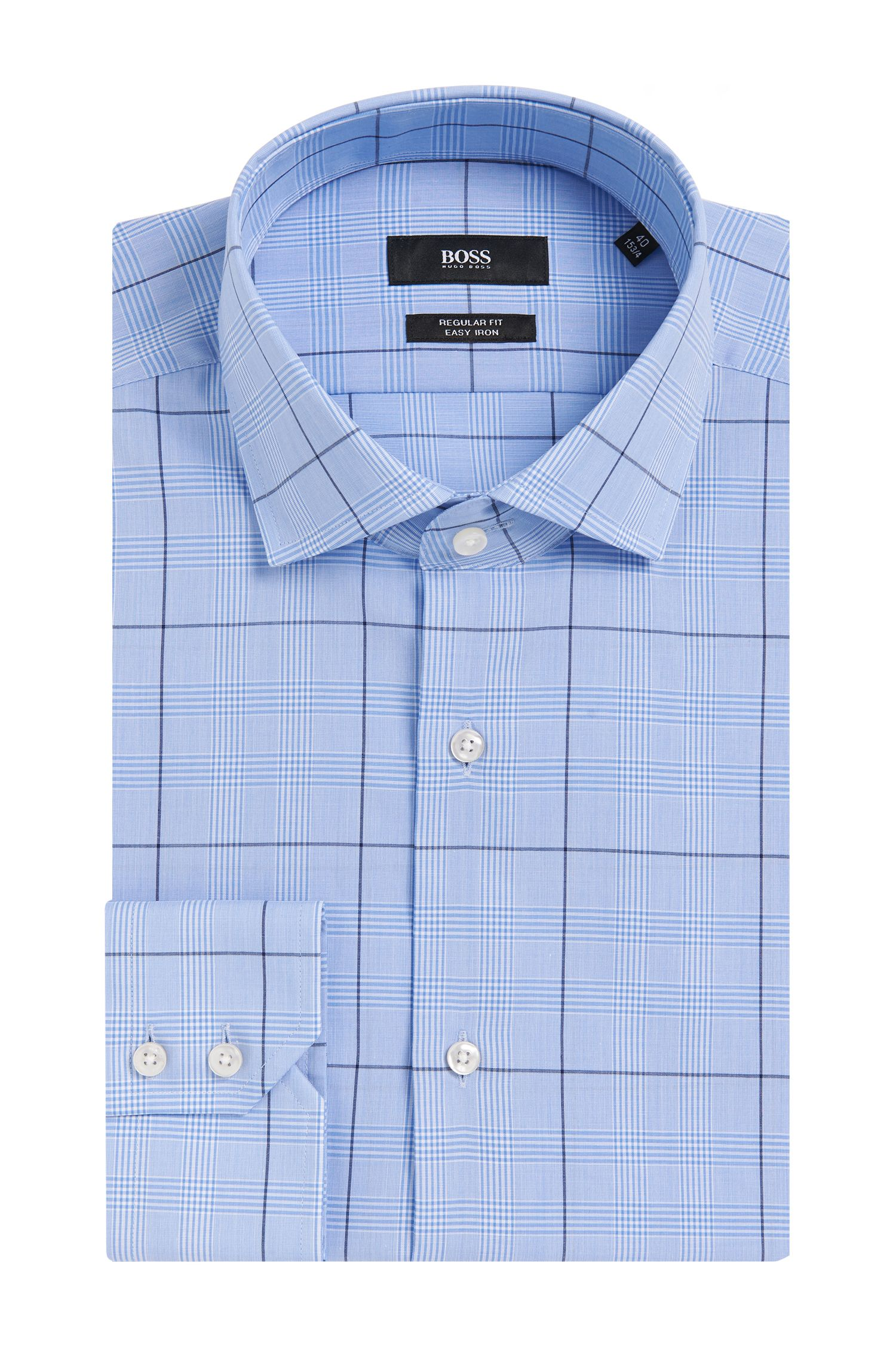 'Gordon' | Regular Fit, Easy Iron Cotton Dress Shirt