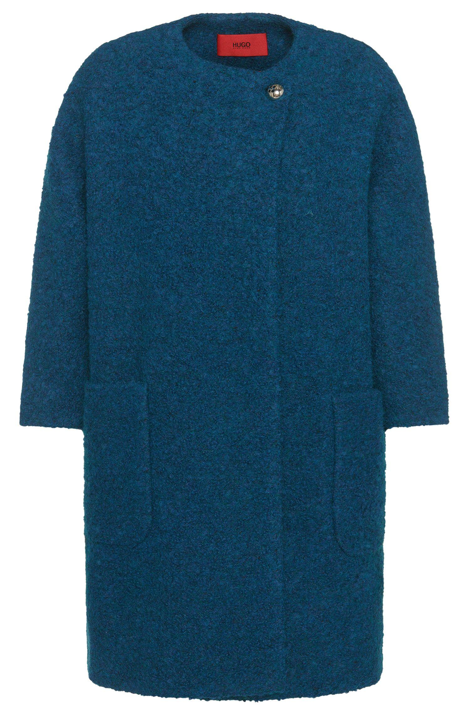'Malilli' | Wool Blend Kimono Sleeve Coat