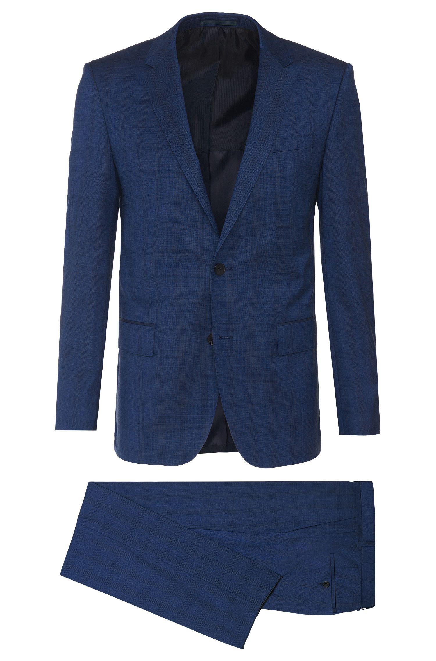 'Huge/Genius' | Slim Fit, Italian Virgin Wool Silk Patterned Suit
