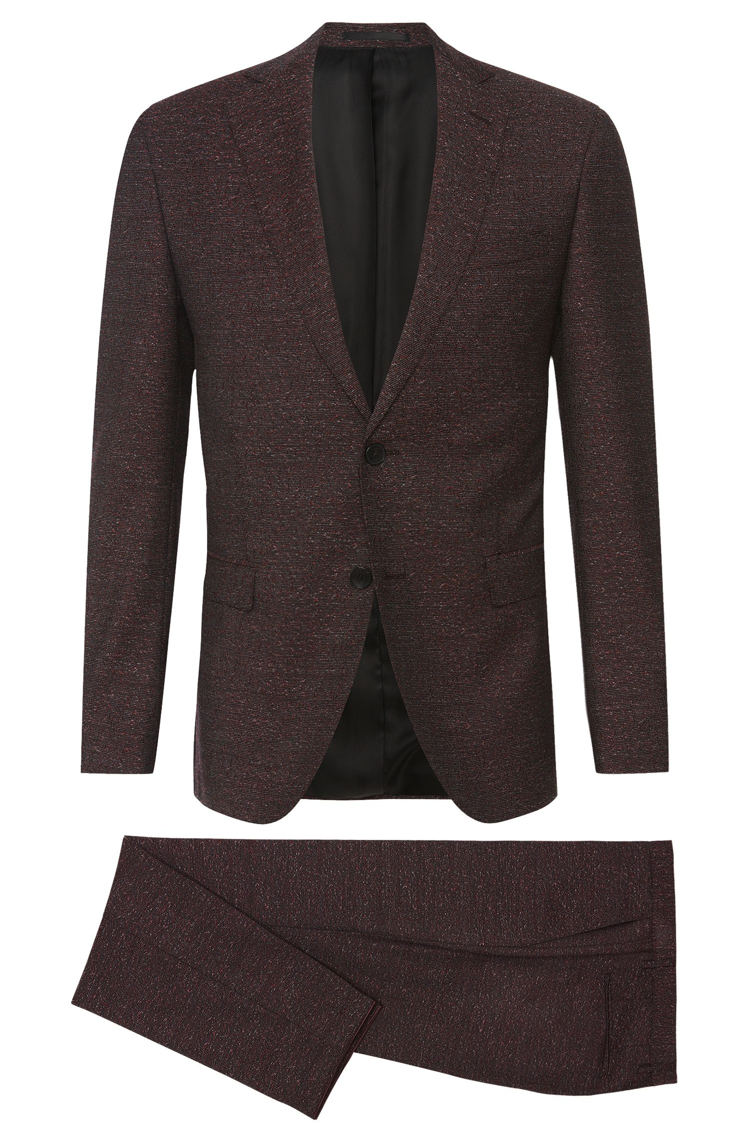 'Reyno/Wave' | Extra Slim Fit, Italian Virgin Wool Melange Suit