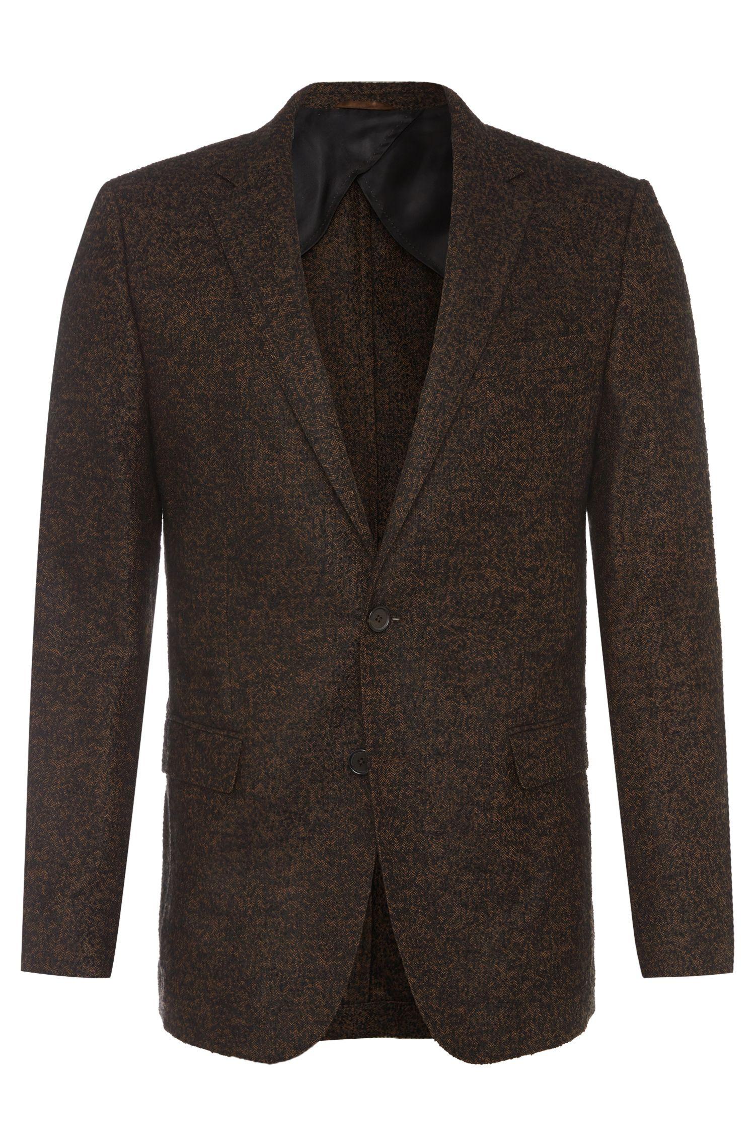 'Nobis' | Slim Fit, Wool Blend Herringbone Slub Sport Coat
