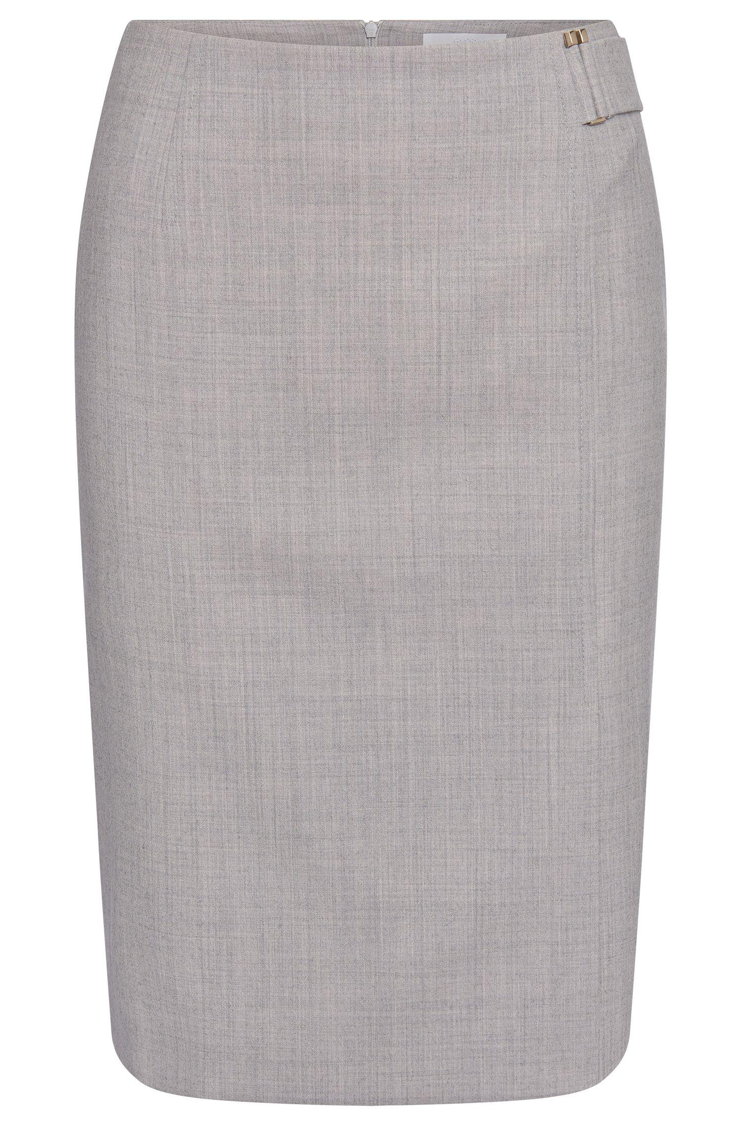 'Vyflena' | Stretch Virgin Wool Pencil Skirt