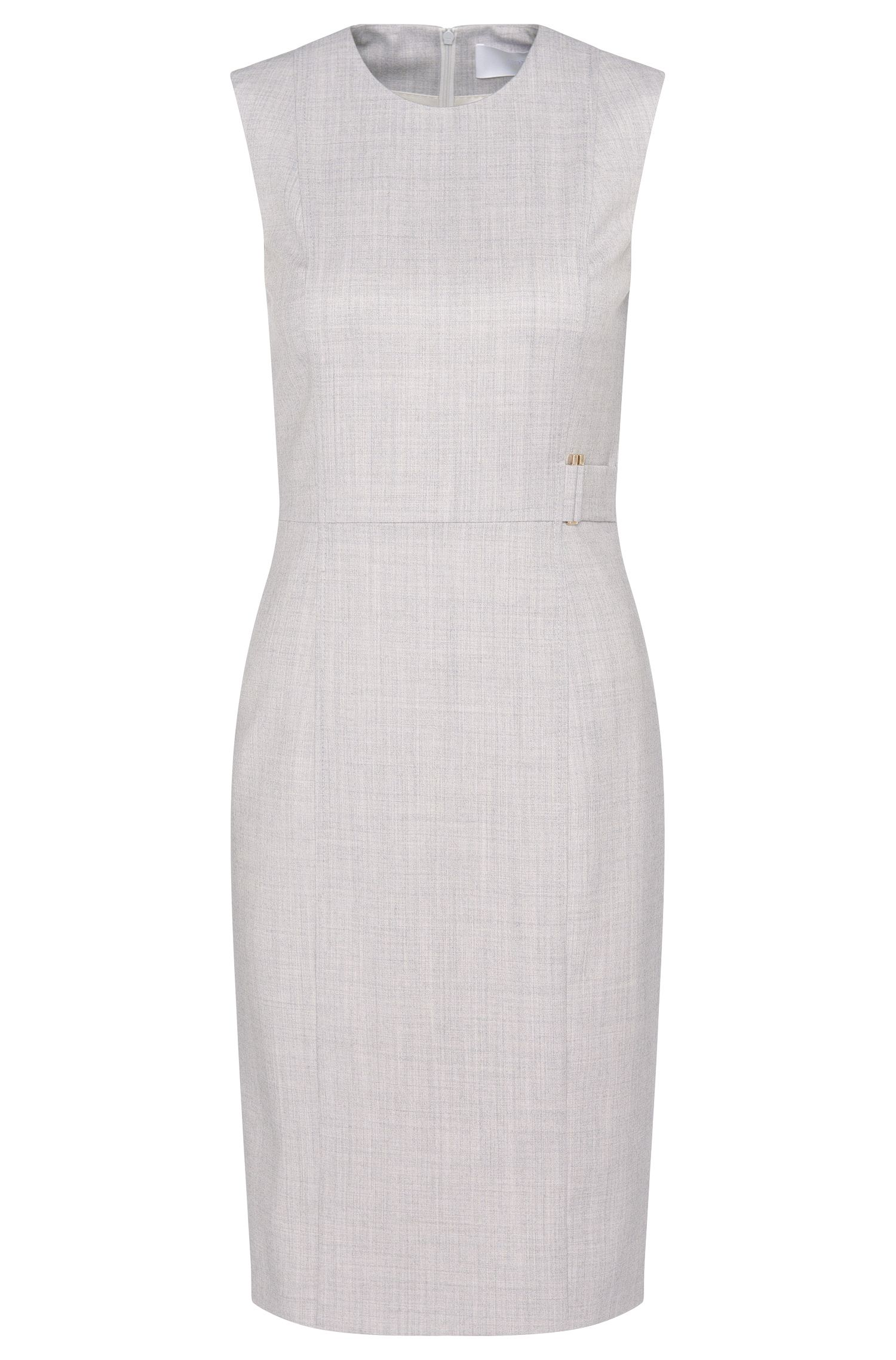 'Dyflena' | Stretch Virgin Wool Sheath Dress