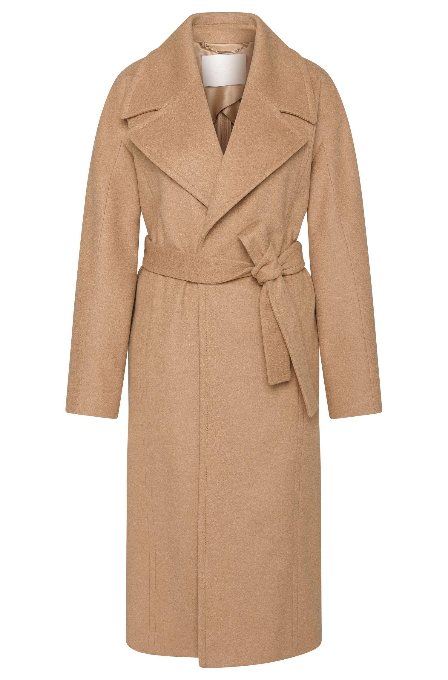 'Cordina'   Virgin Wool, Cashmere Belted Coat