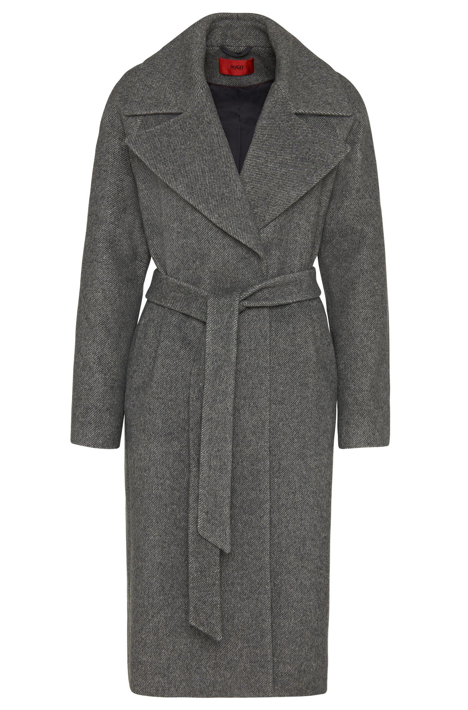 'Meone' | Virgin Wool Blend Open Front Coat