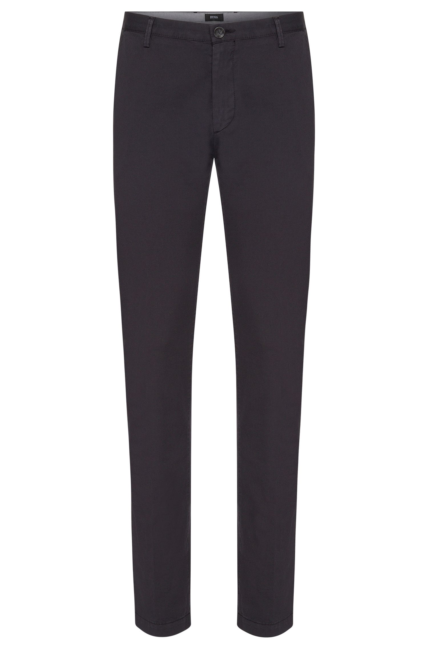 'Rice-D' | Slim Fit, Stretch Cotton Gabardine Trousers