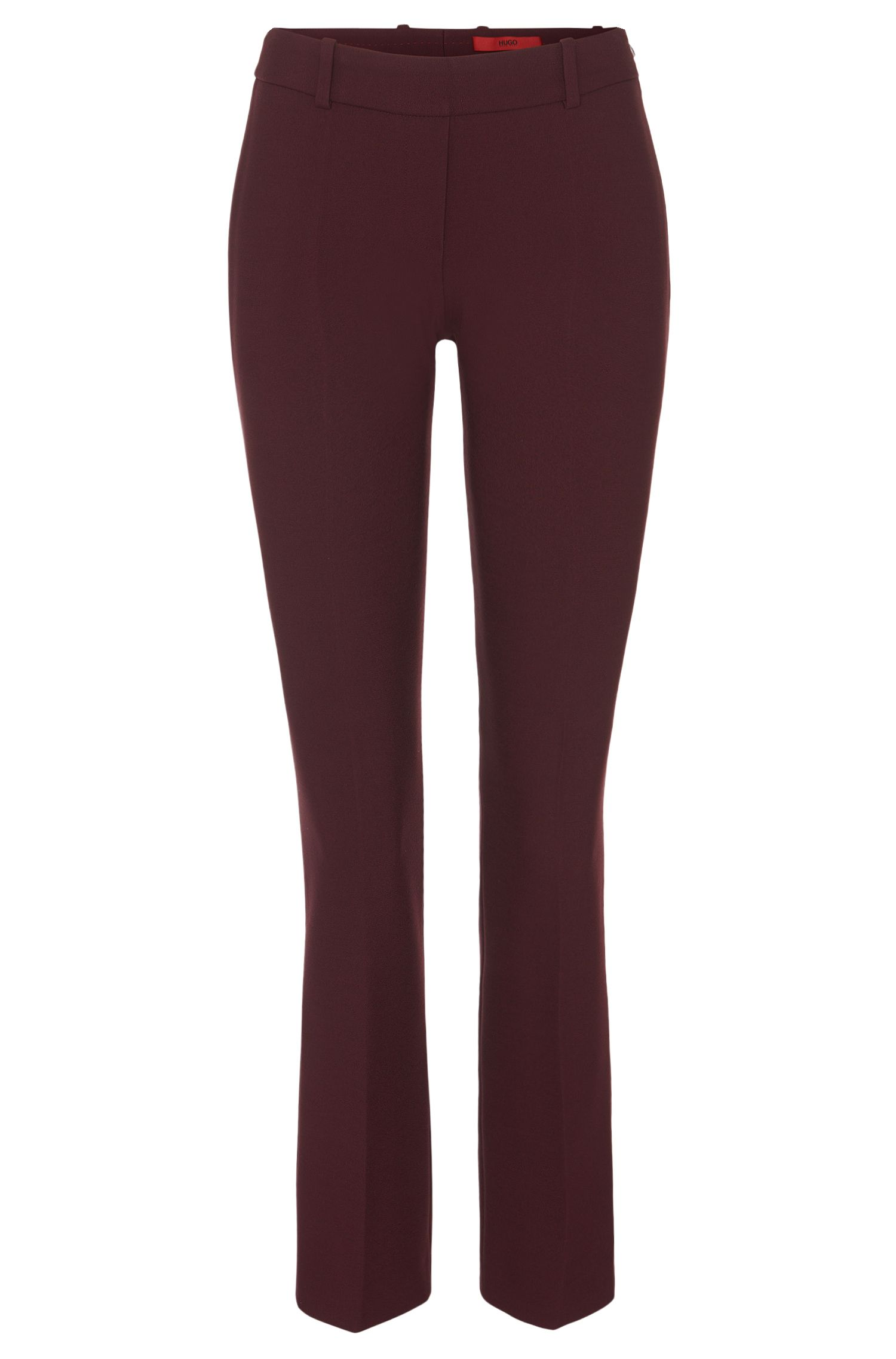 'Hanane' | Stretch Viscose Cropped Trousers
