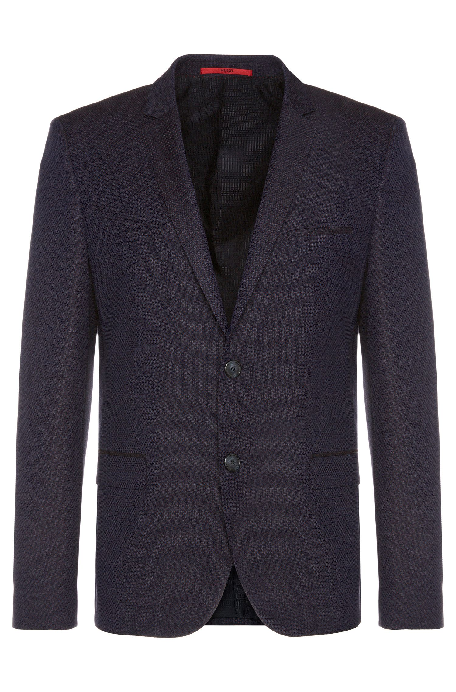 'Arti'   Slim Fit, Stretch Virgin Wool Jacquard Sport Coat