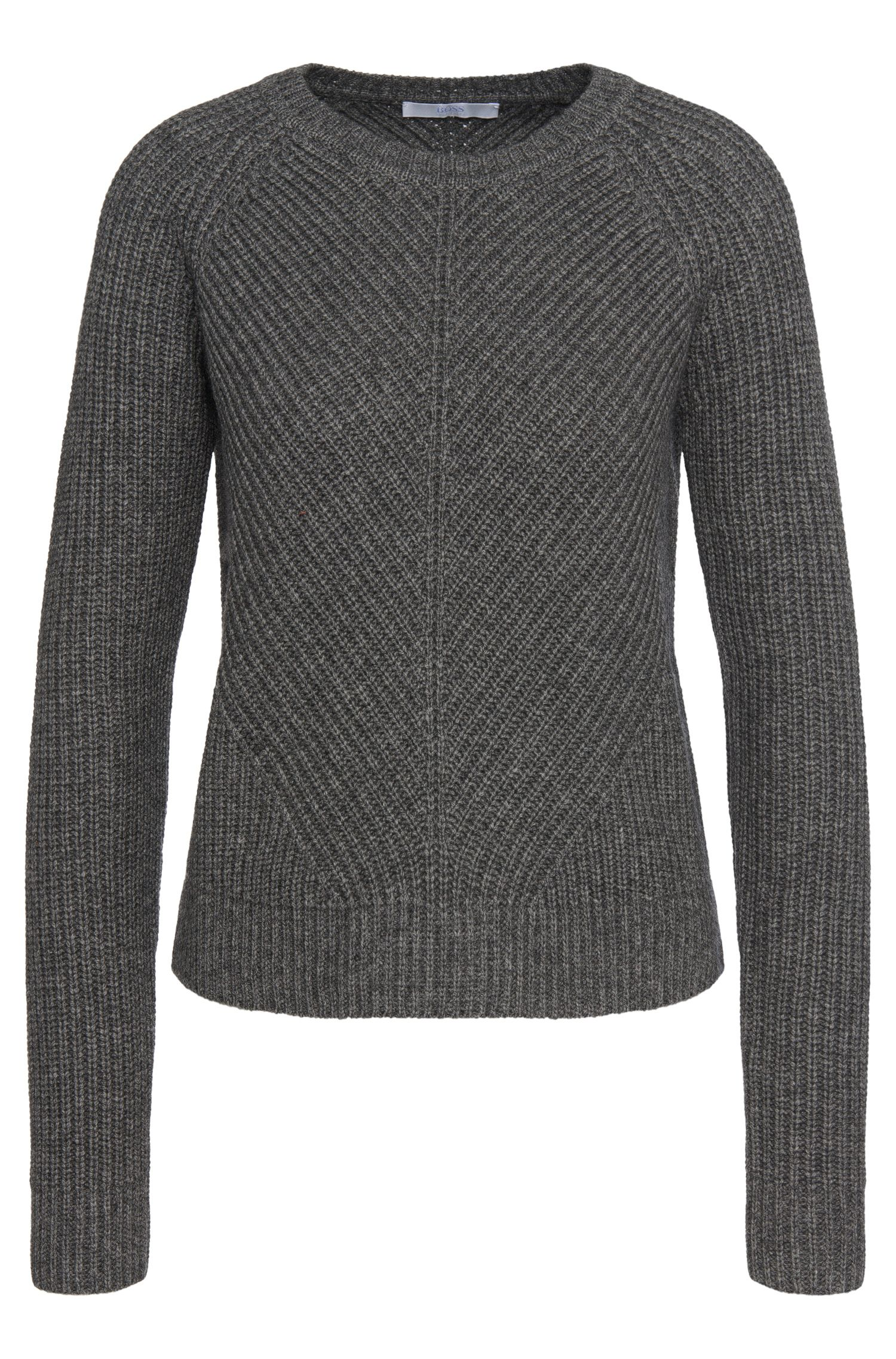 'Fareda' | Virgin Wool Cashmere Yak Ribbed Sweater
