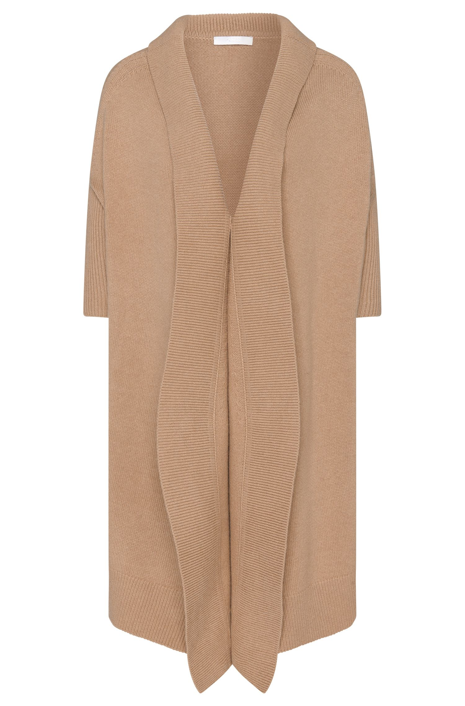 'Farela' | Virgin Wool Cashmere Yak Longline Cardigan