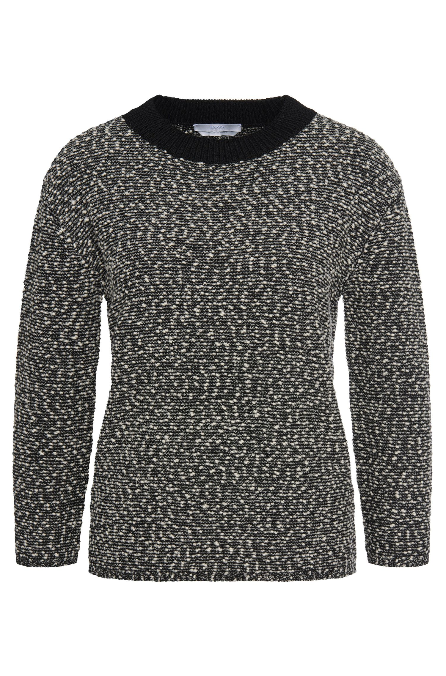 'Farala' | Stretch Italian Virgin Wool Blend Slub Sweater