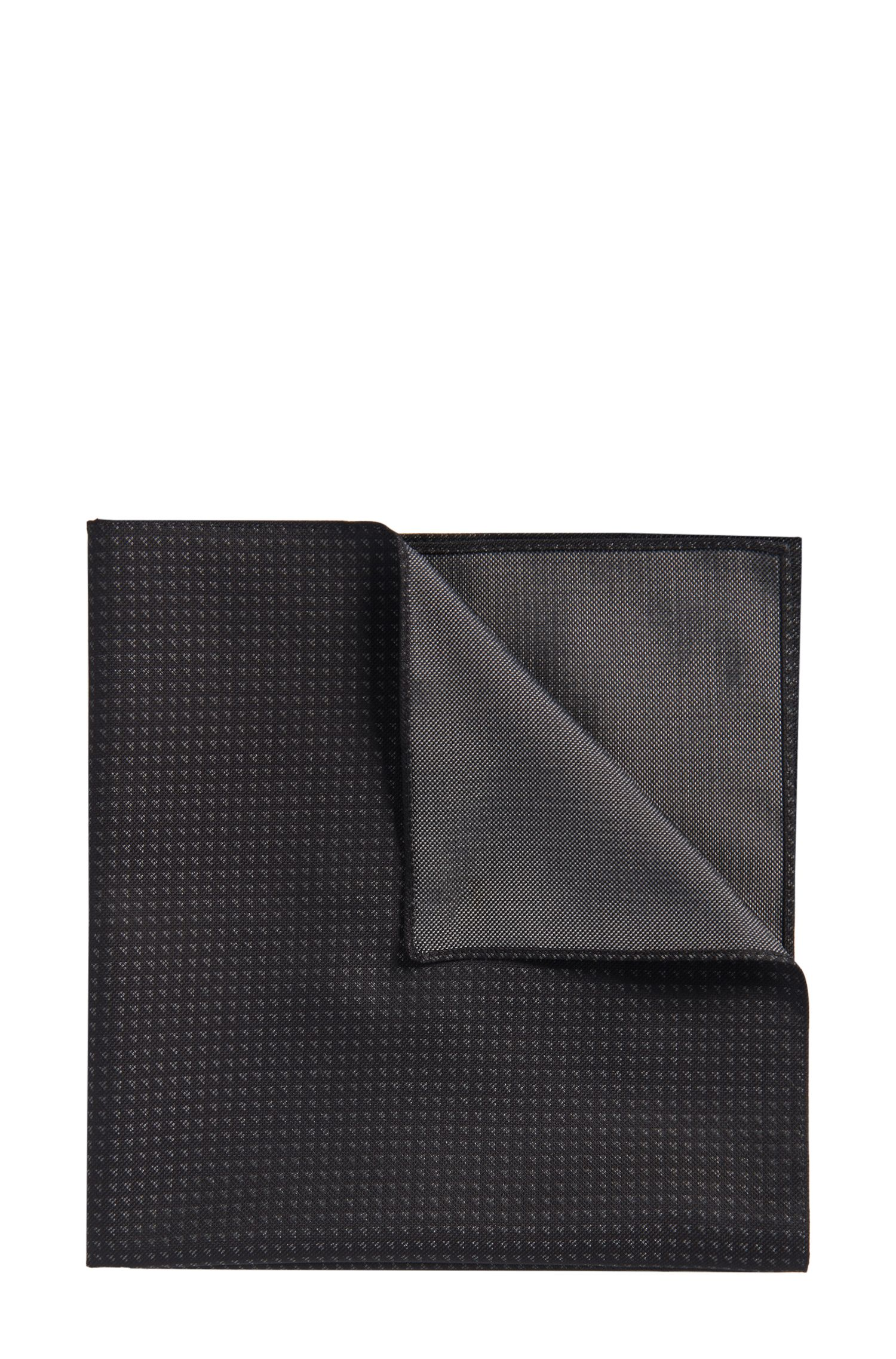 'Pocket sq. cm 33x33' | Geo Patterned Pocket Square