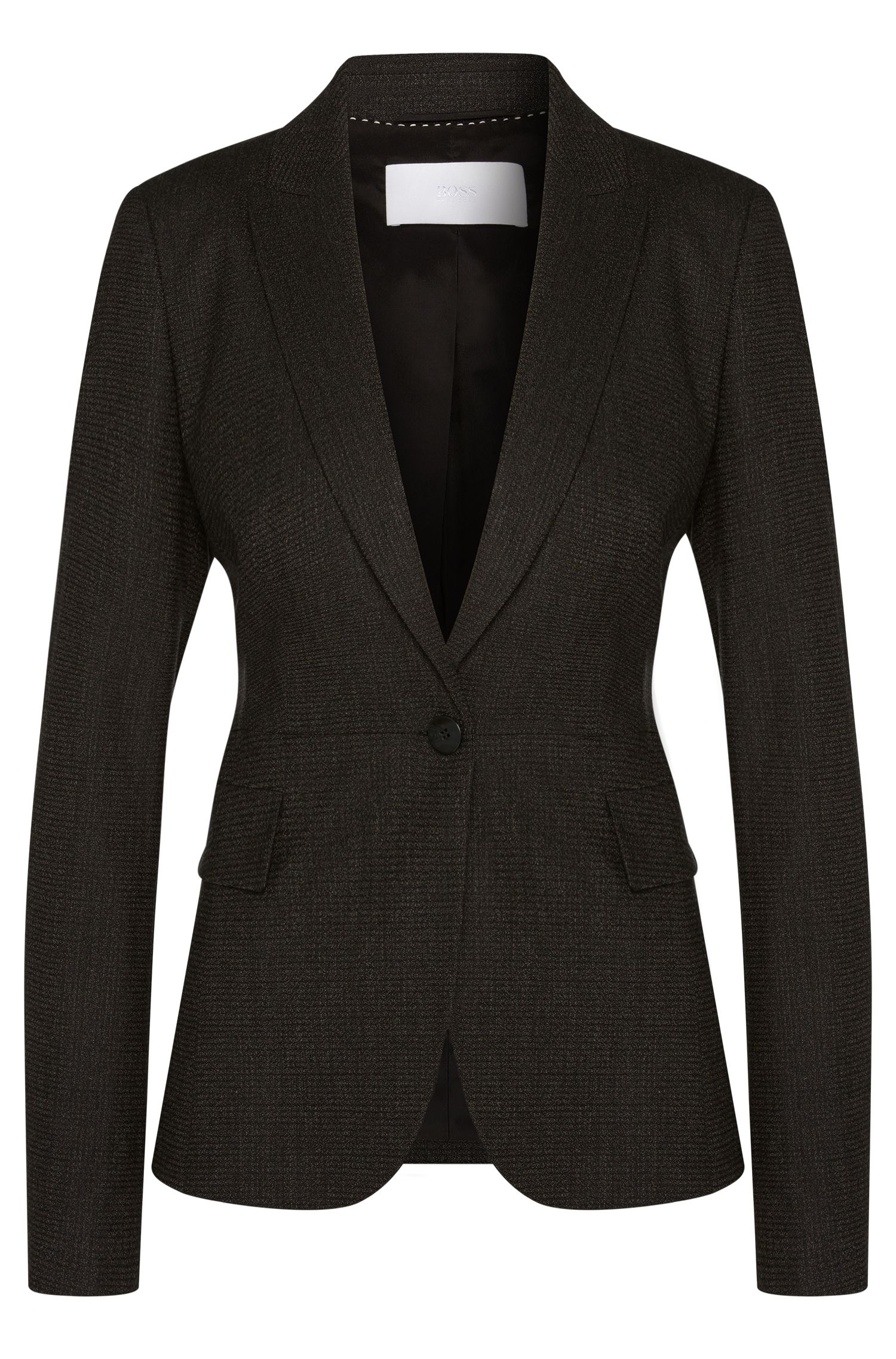 'Jiabina' | Stretch Virgin Wool Tweed Blazer