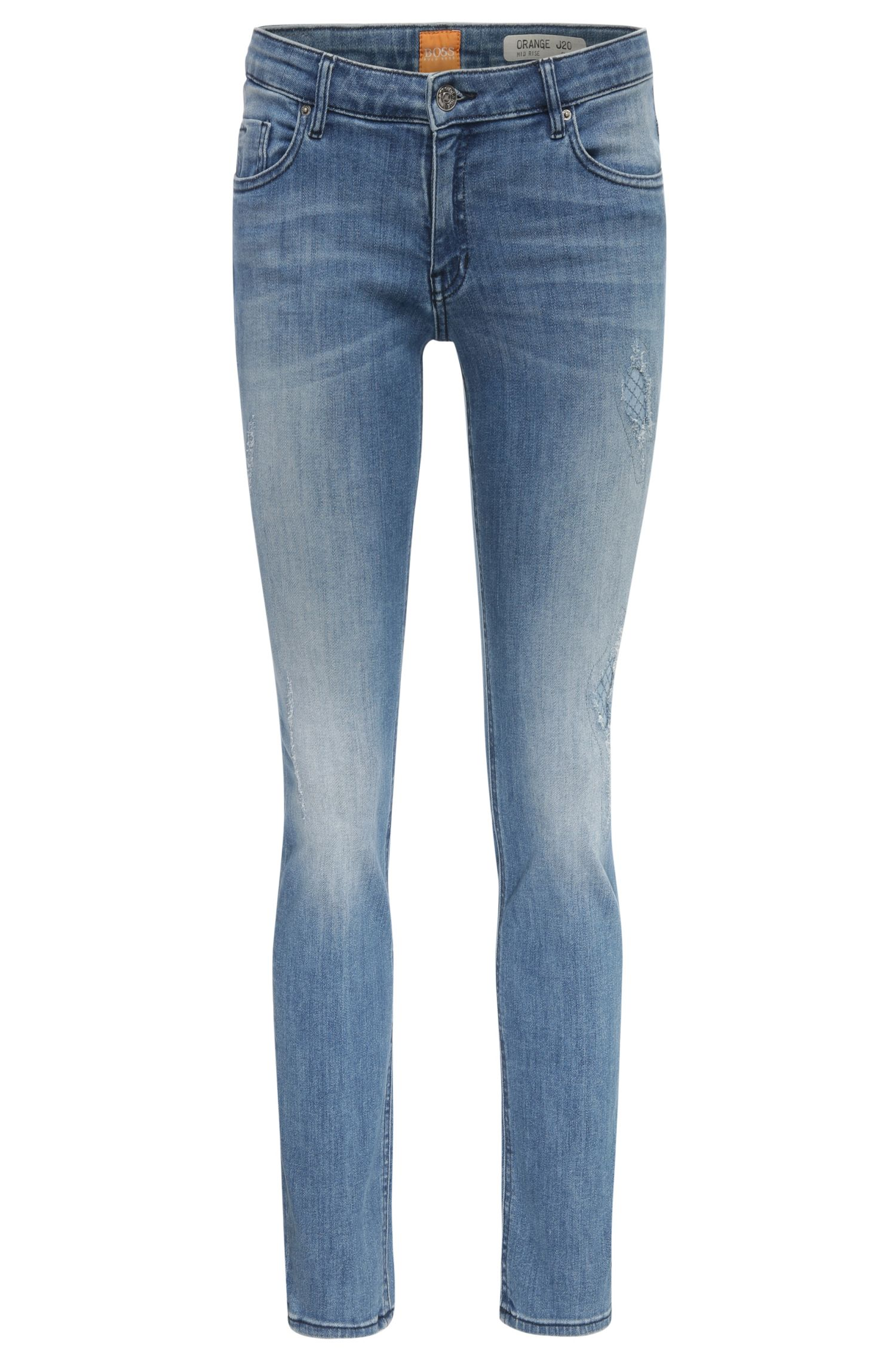 'Orange J20 Berlin' | Stretch Cotton Blend Mid-Rise Jeans