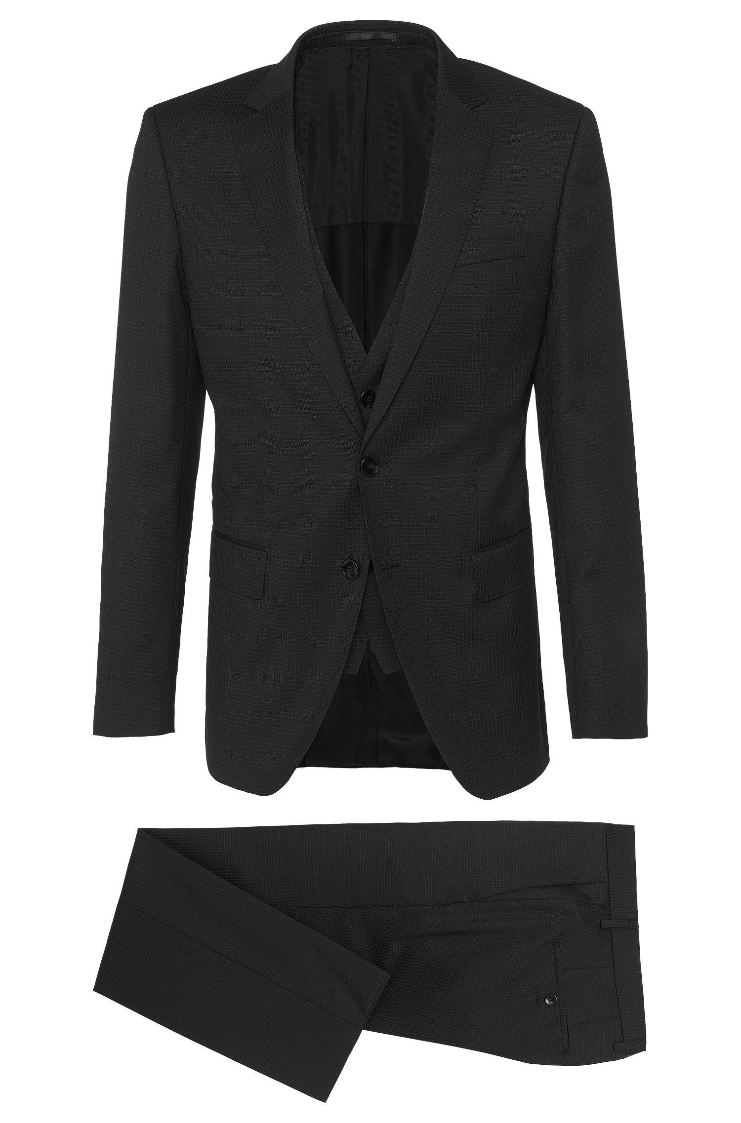 'Huge/Genius WE' | Slim Fit, Super 100 Virgin Wool 3-Piece Suit