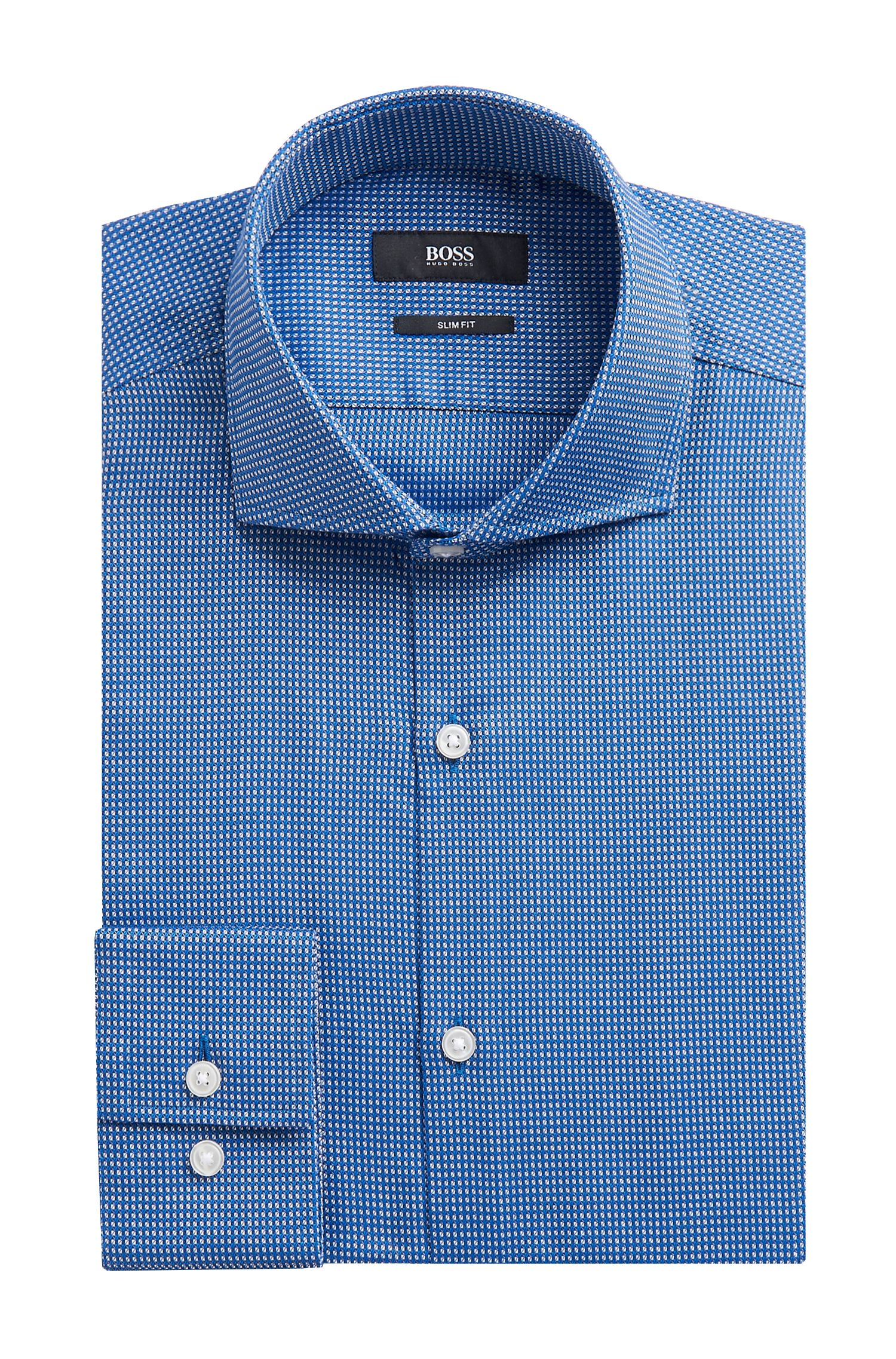 'Jason US' | Slim Fit, Cotton Patterned Dress Shirt