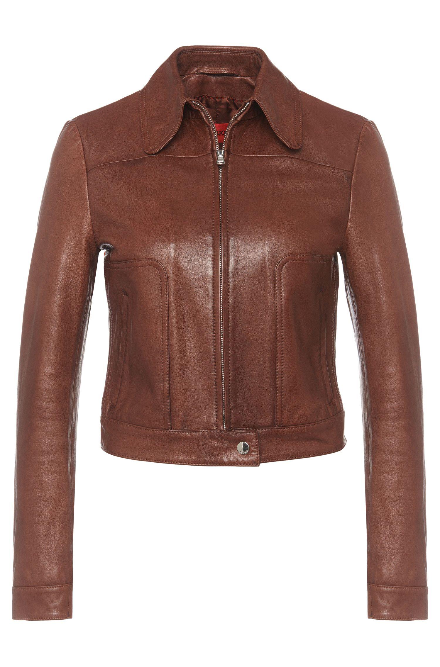 'Laonas' | Lambskin Shirt Jacket