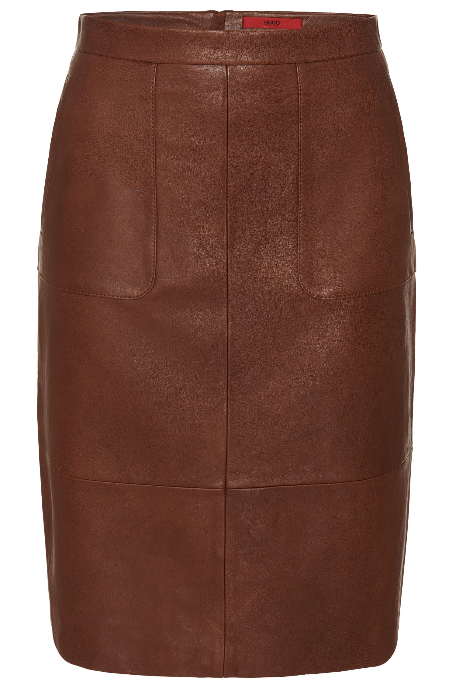 'Labika' | Lambskin Pencil Skirt