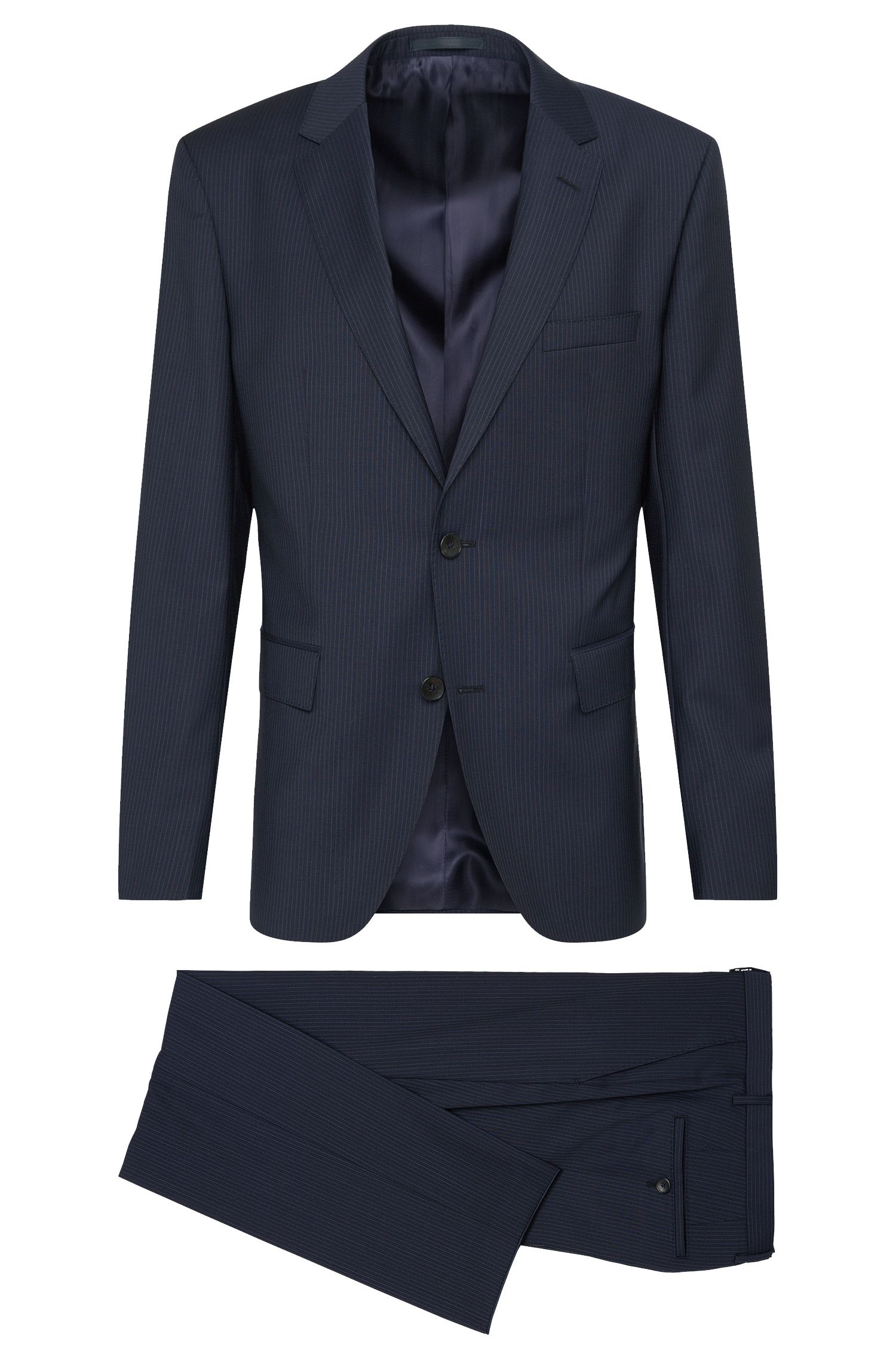'Johnstons/Lenon' | Regular Fit, Super 100 Italian Virgin Wool Suit