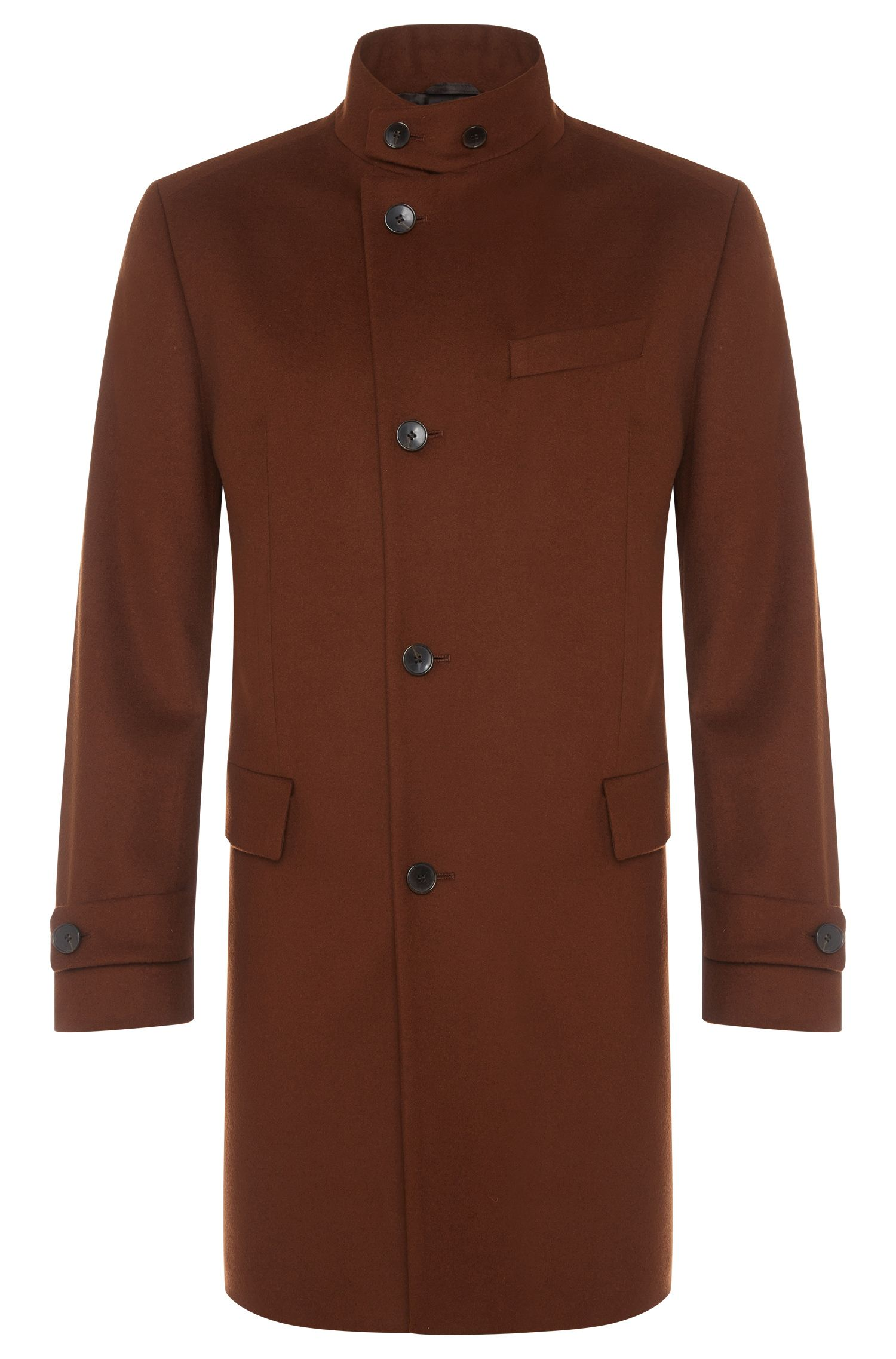 'Sintrax' | Virgin Wool Cashmere Three-Quarter Coat