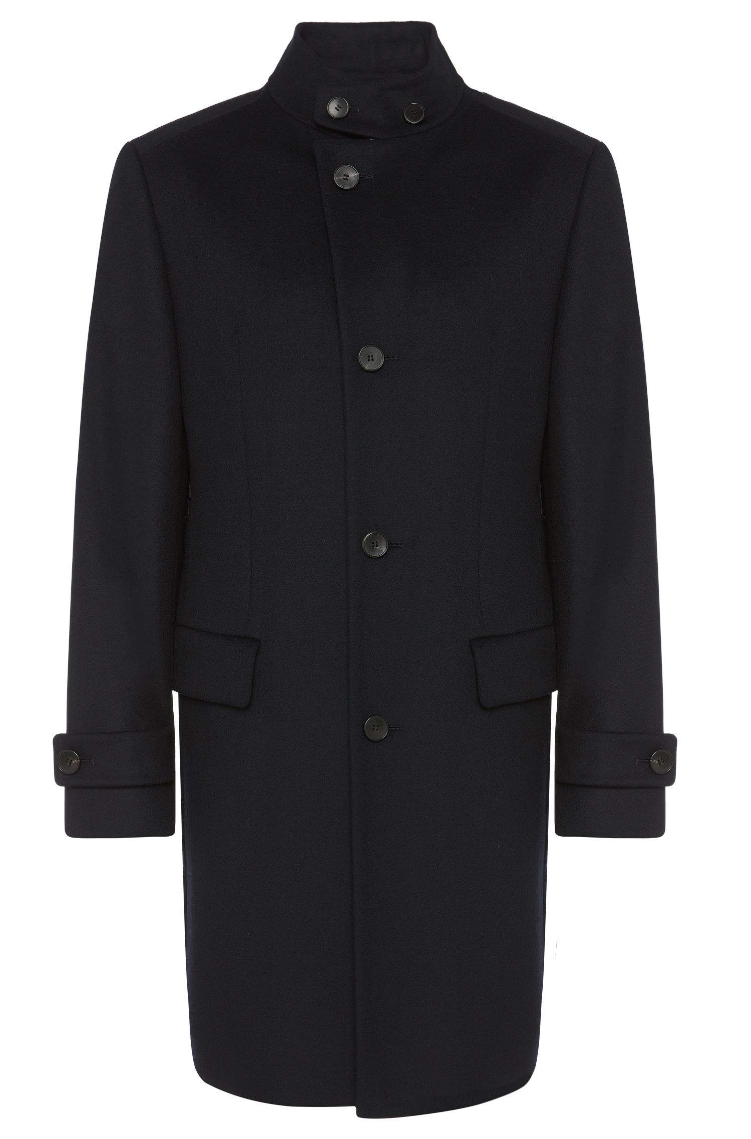 'Sintrax' | Virgin Wool Cashmere Three-Quarter Coat
