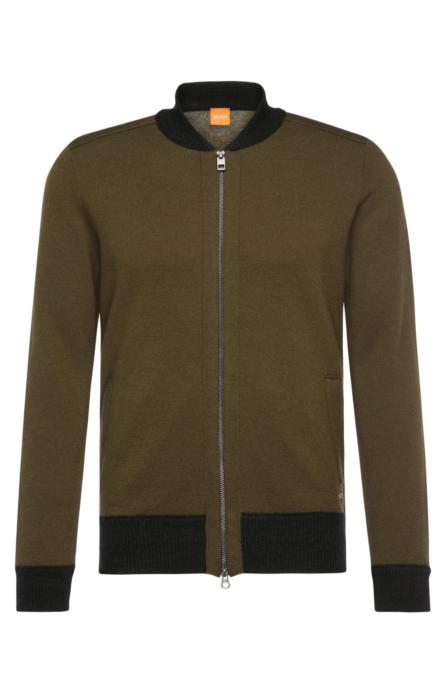 'Kareb' | Wool Bomber Sweater Jacket