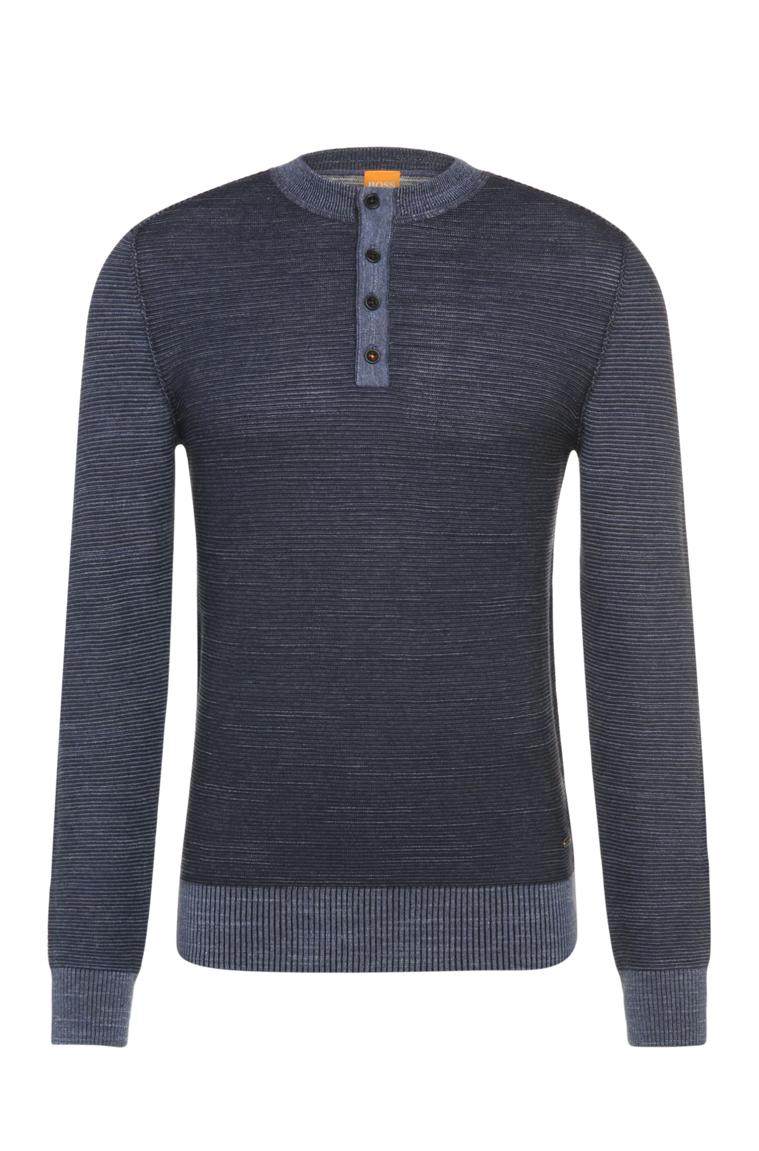 'Kenhenry' | Cotton Henley Sweater