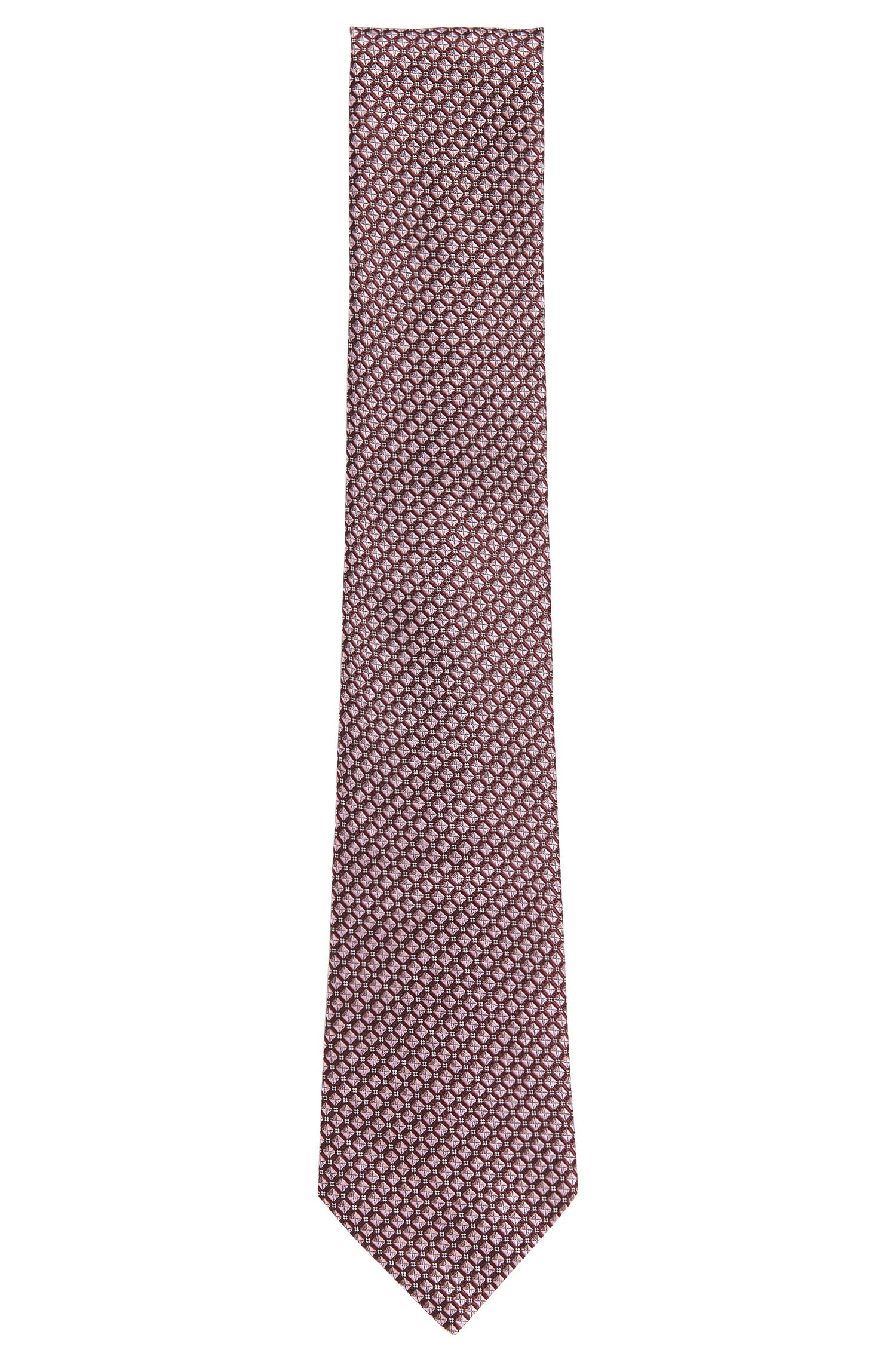 'Tie 7.5 cm' | Regular, Silk Geo Patterned Tie