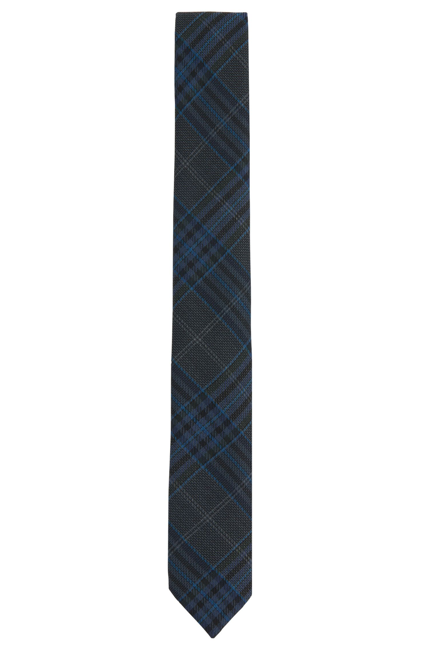'Tie 6 cm' | Slim, Virgin Wool Plaid Tie