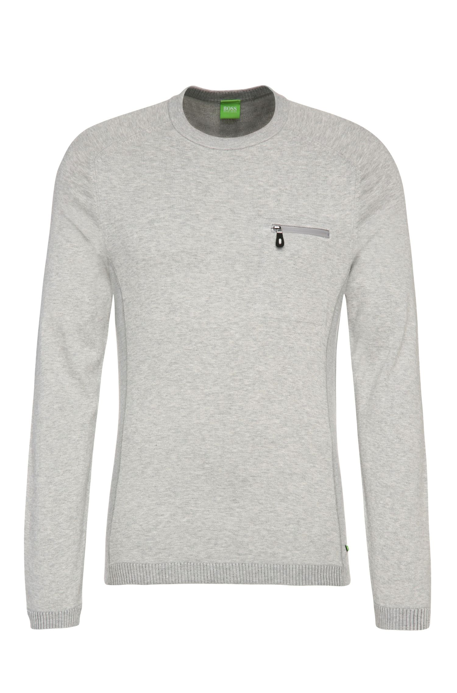 'Riker' | Stretch Cotton Blend Melange Sweater