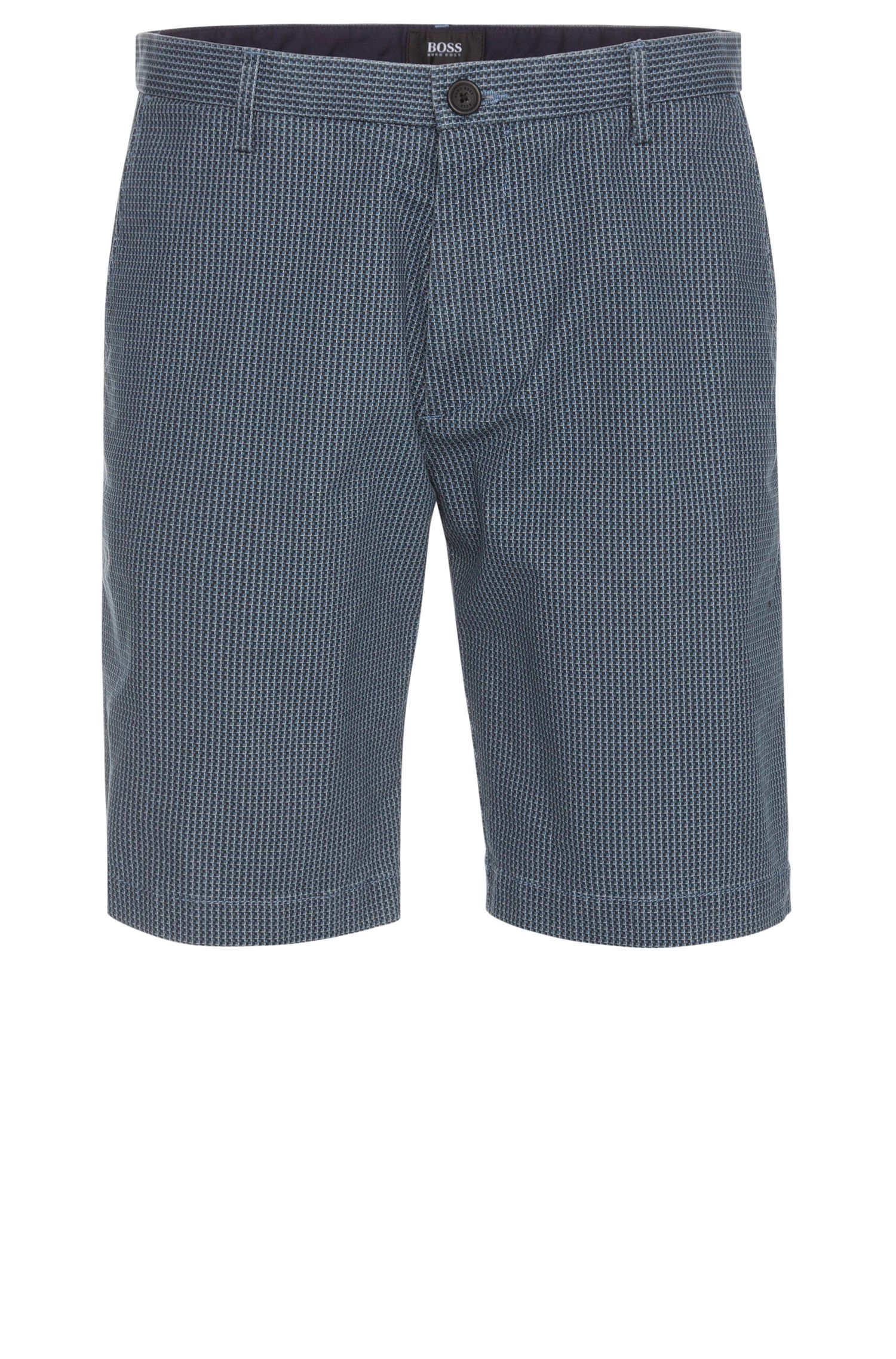 'RiceShort-W' | Slim Fit, Stretch Cotton Printed Shorts