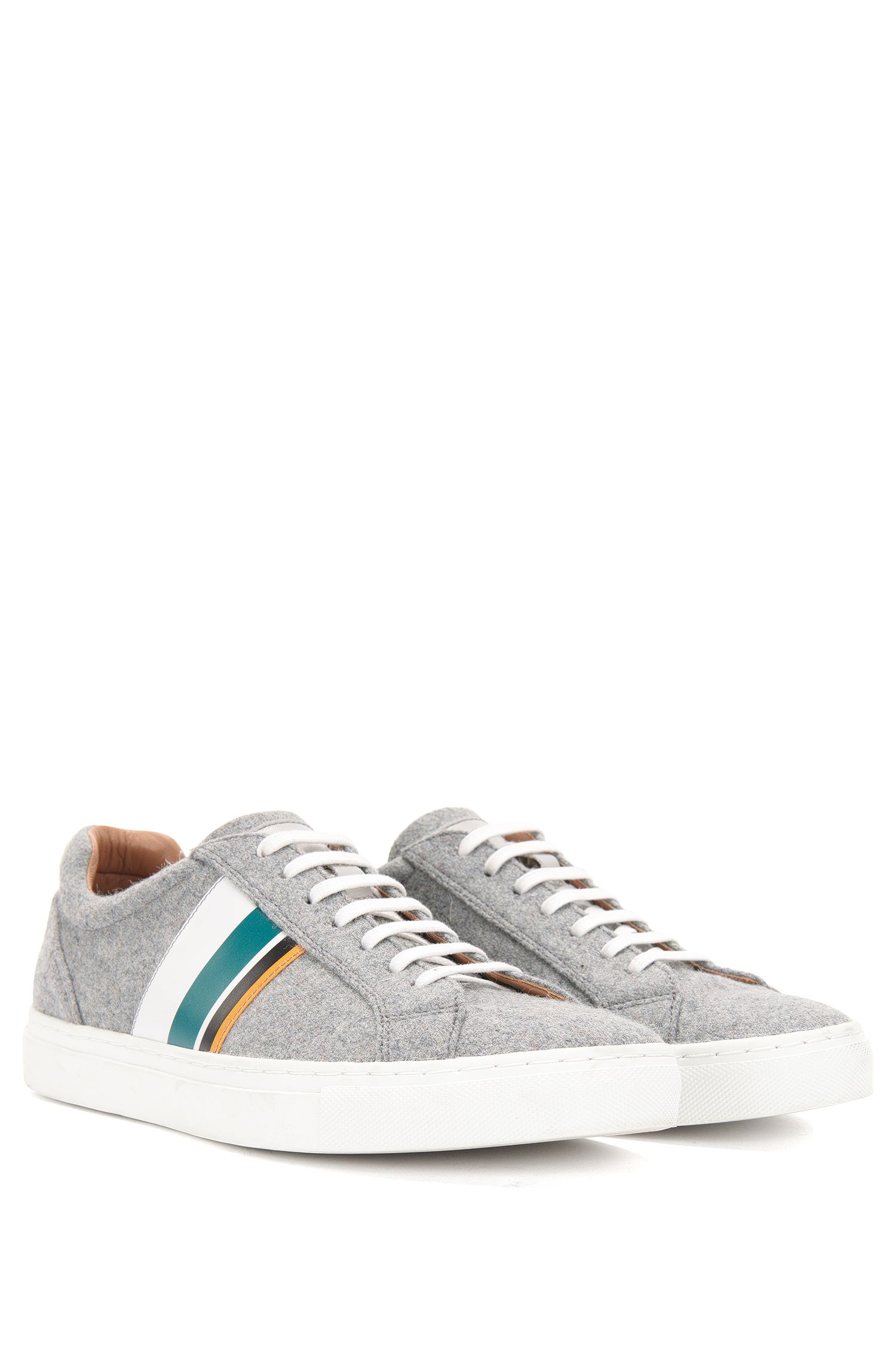 'Low Cut LB' | Wool Calfskin Sneakers