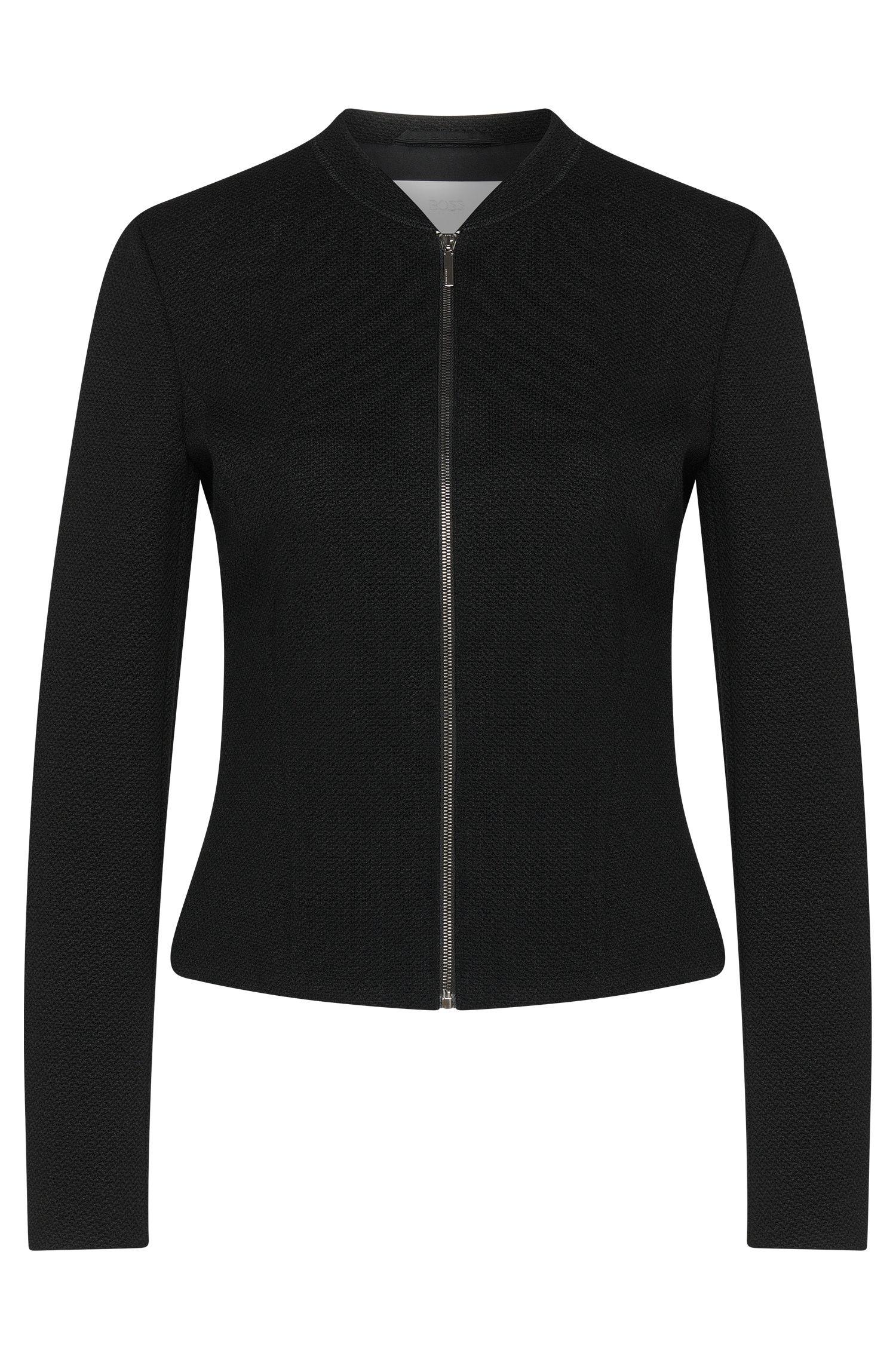 'Kelala' | Textured Jersey Fitted Blazer