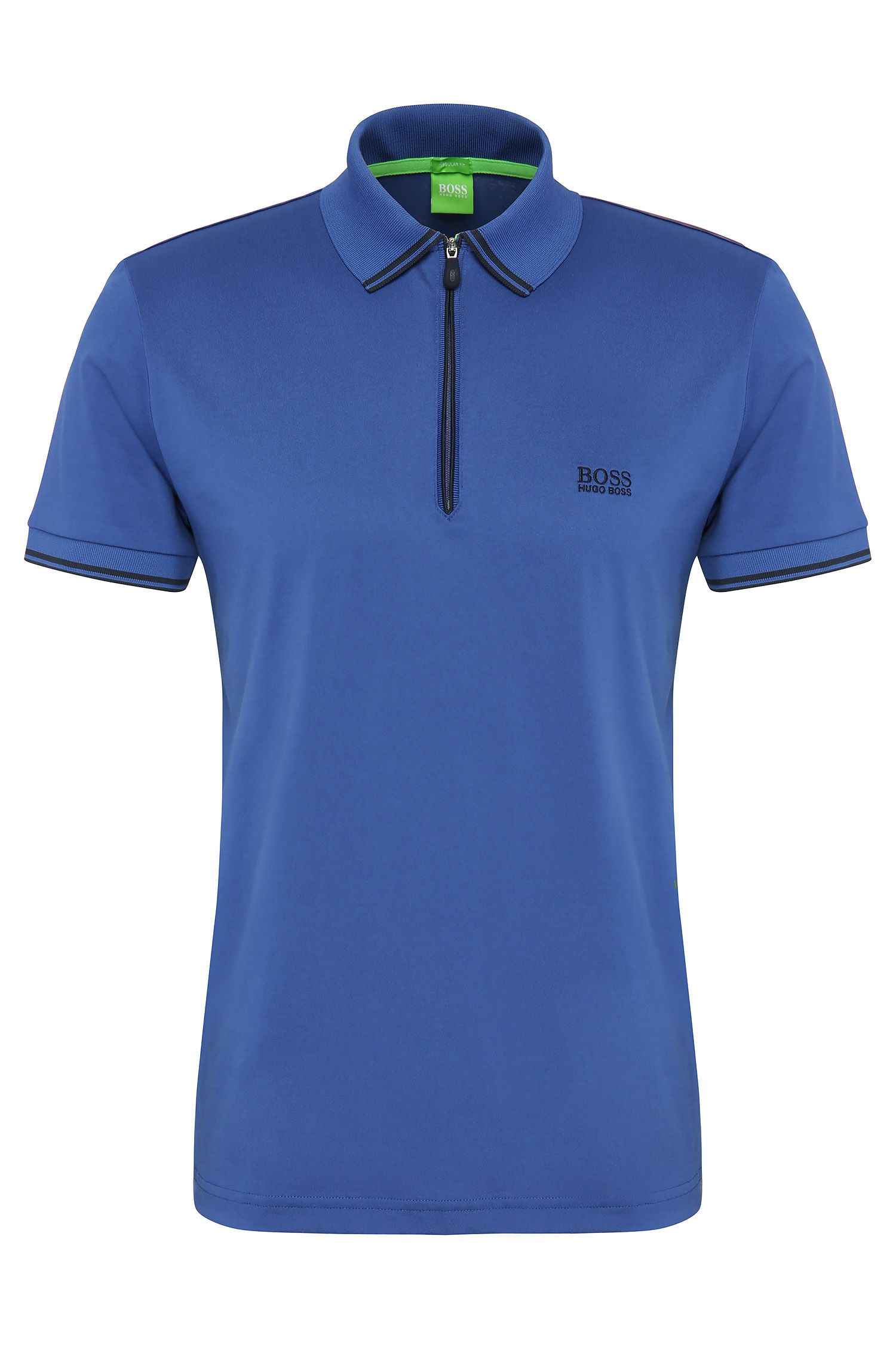 'Philix' | Modern Fit, Cotton Blend Contrast Stripe Polo