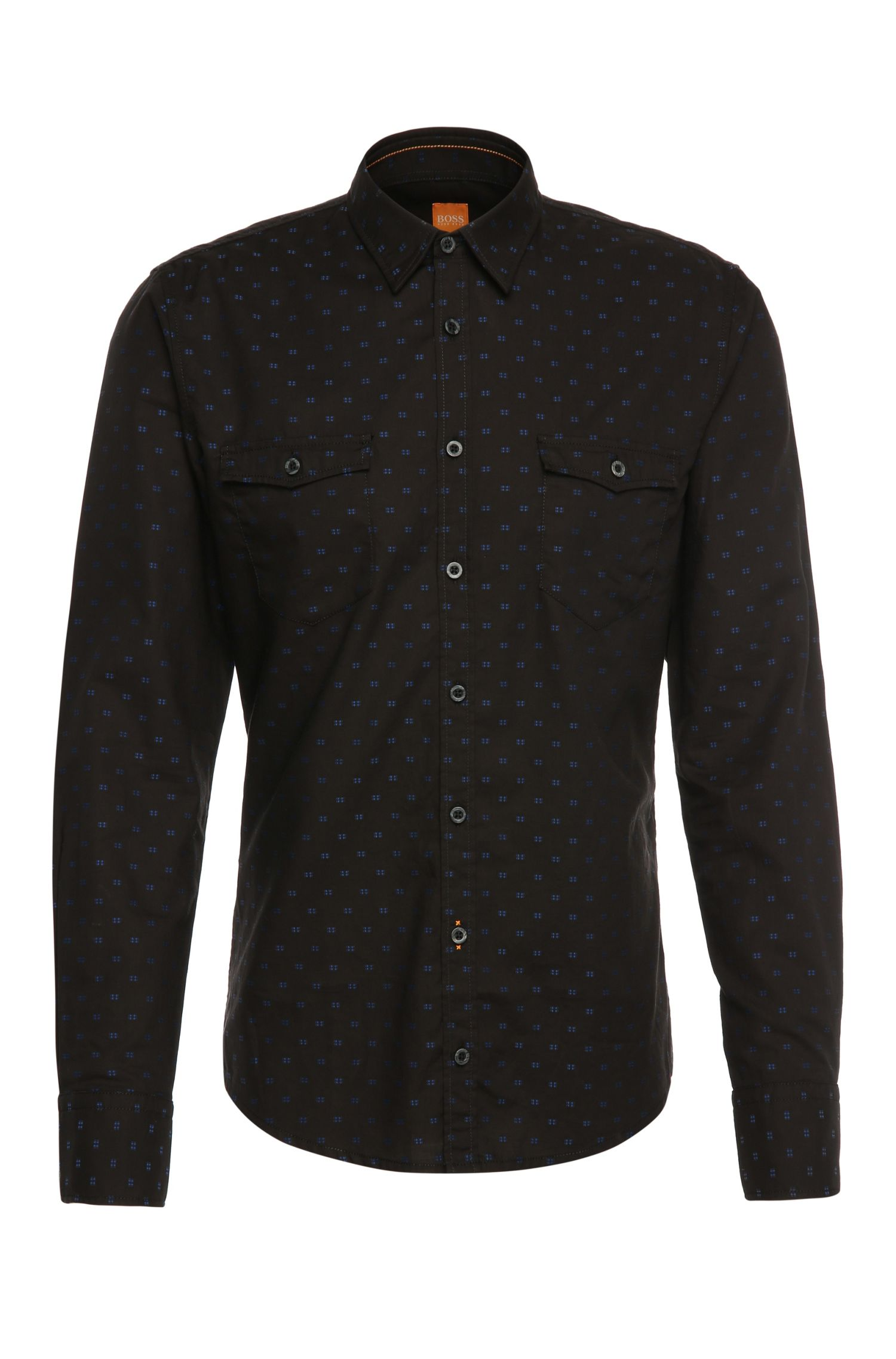 'EdoslimE' | Slim Fit, Cotton Button Down Shirt