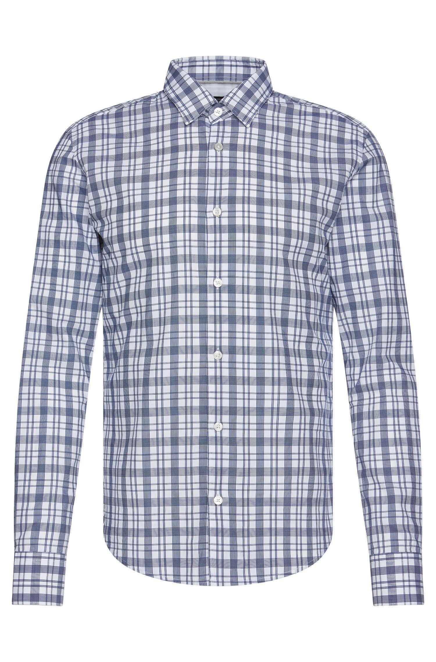 'Reid' | Slim Fit, Cotton Check Button Down Shirt