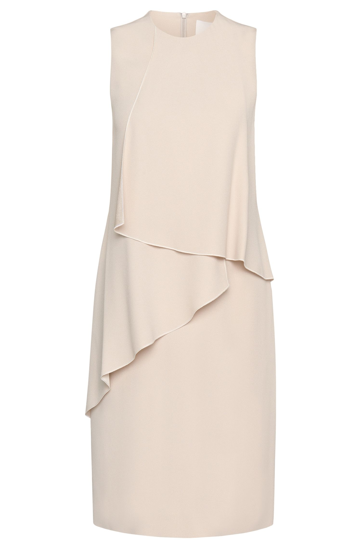 'Dalynea' | Crepe Sating Layered Flounce Dress