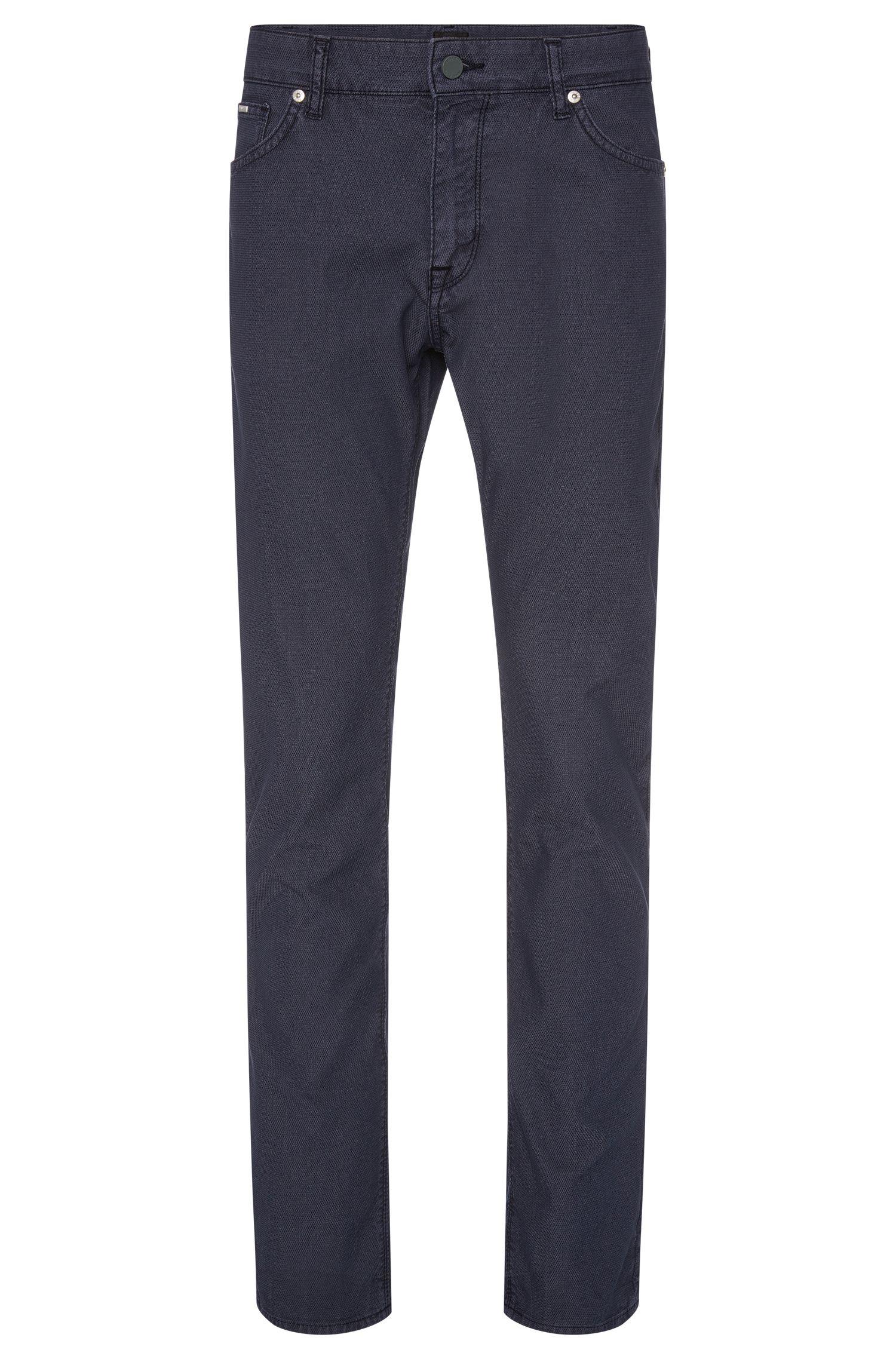 'Maine' | Regular Fit, Stretch Cotton Blend Birdseye Trousers