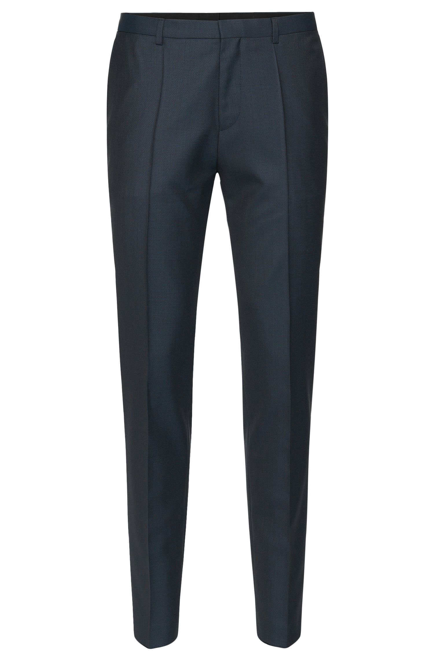 'Hets' | Slim Fit, Virgin Wool Patterned Dress Pants