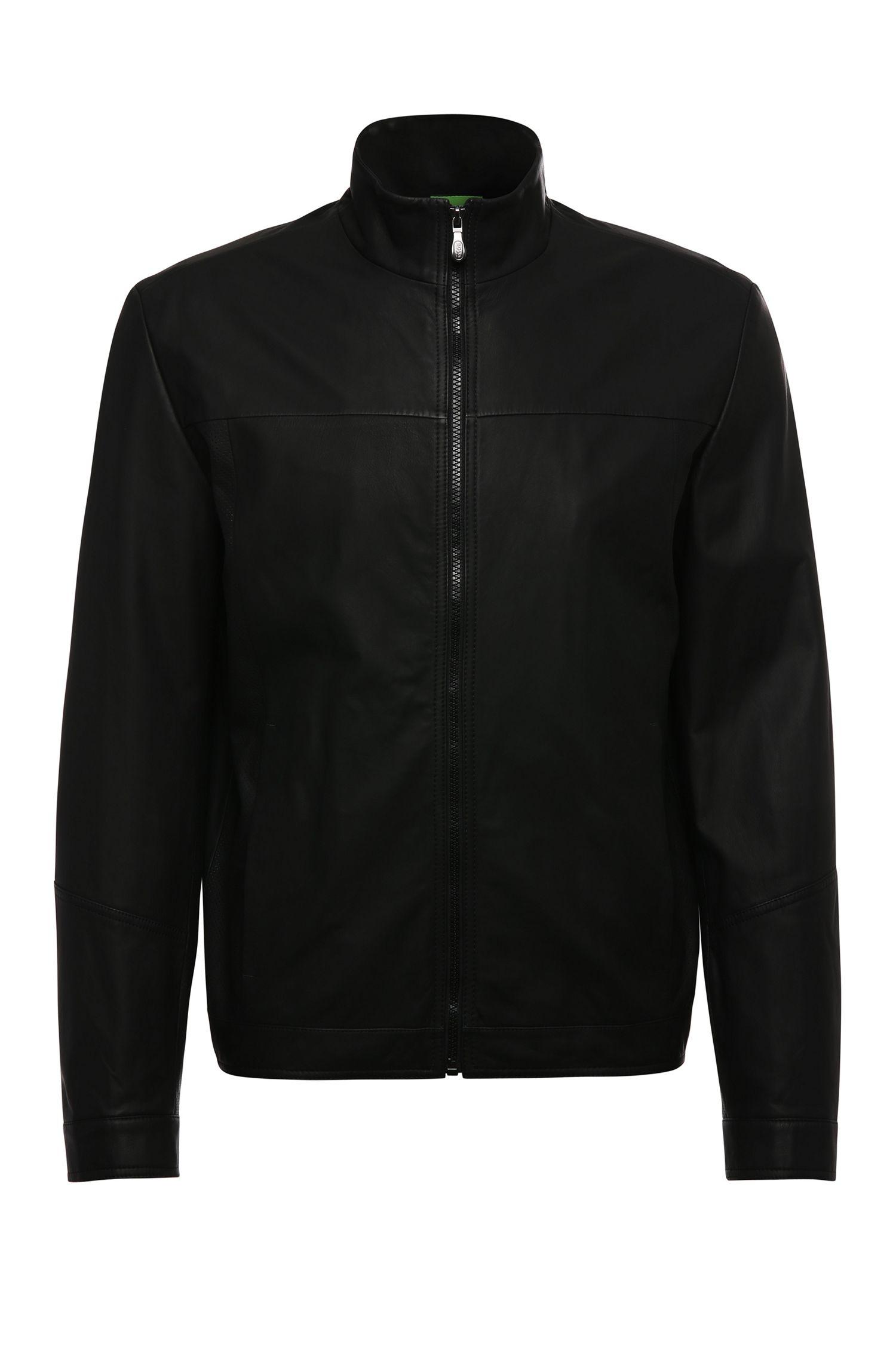 'C Jalpin' | Matte Lambskin Perforated Jacket