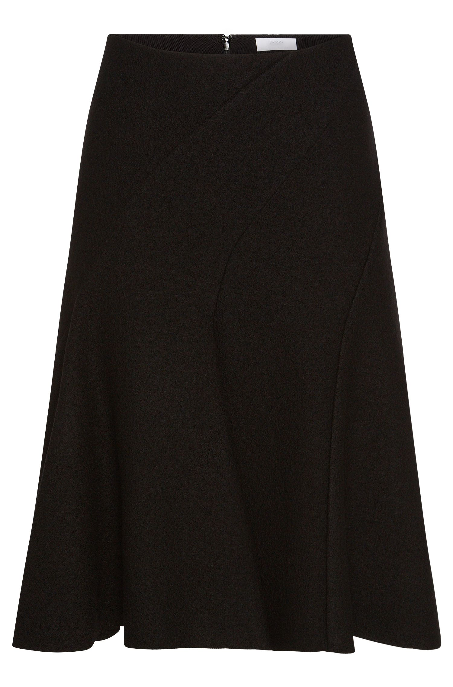 'FS_Vipera' | Bonded Wool A-Line Skirt