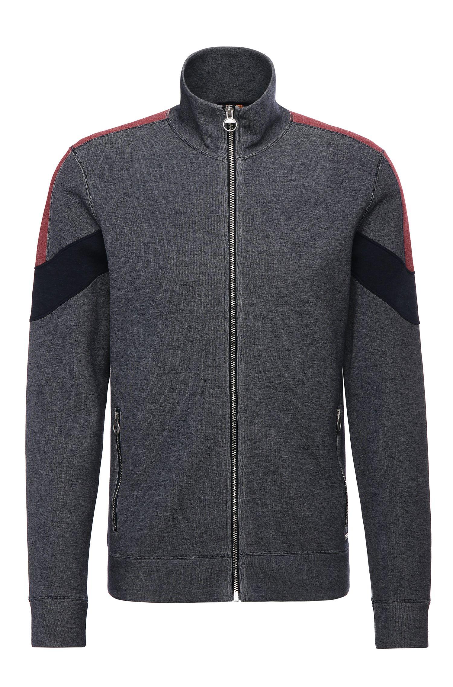 'Zycle' | Cotton Blend Indigo Zip Jacket