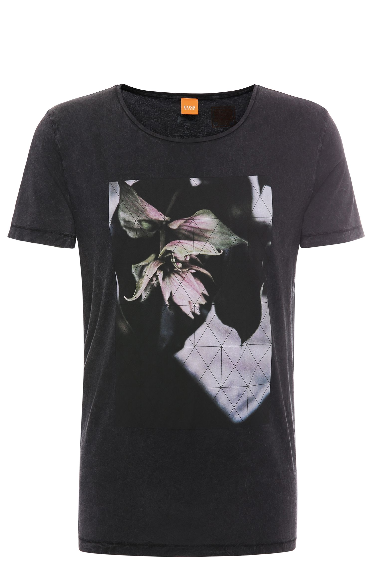 'Torvind' | Cotton Lily Print T-Shirt