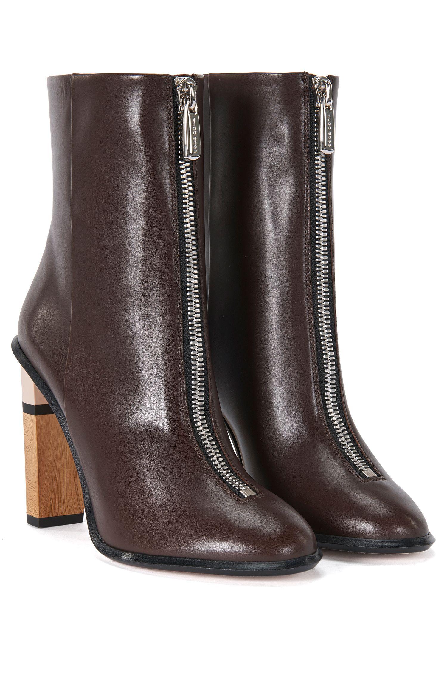 'Zip Bootie'   Italian Calfskin Zip Ankle Boot