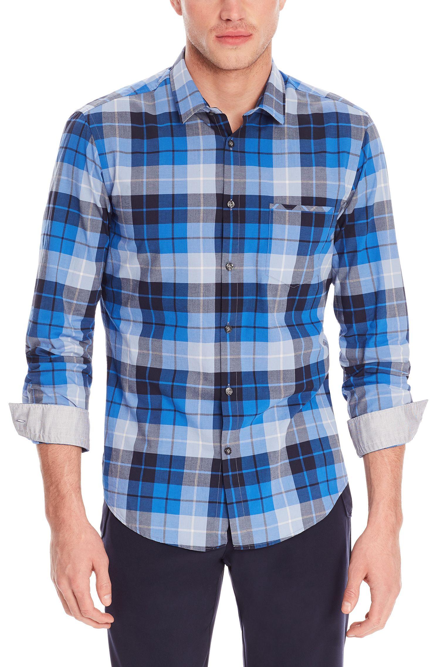 'C-Bansi' | Regular Fit, Cotton Dot Button Down Shirt
