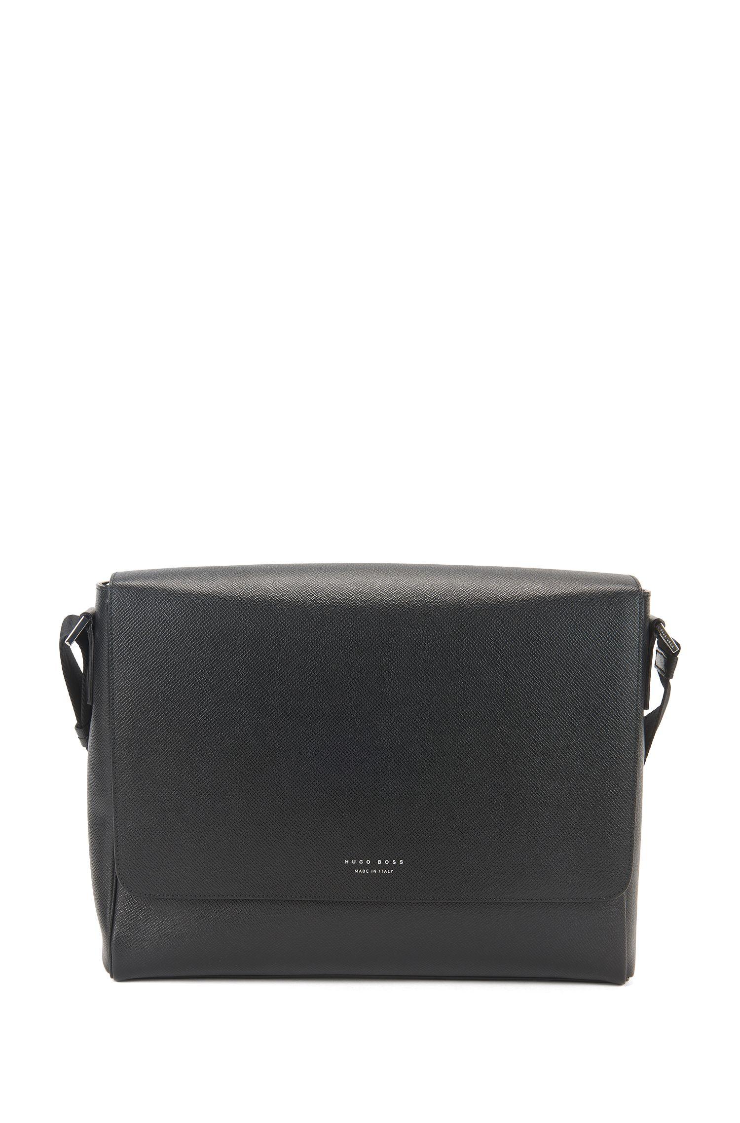 'Signature Mess Flap'   Leather Messenger Bag, Shoulder Strap